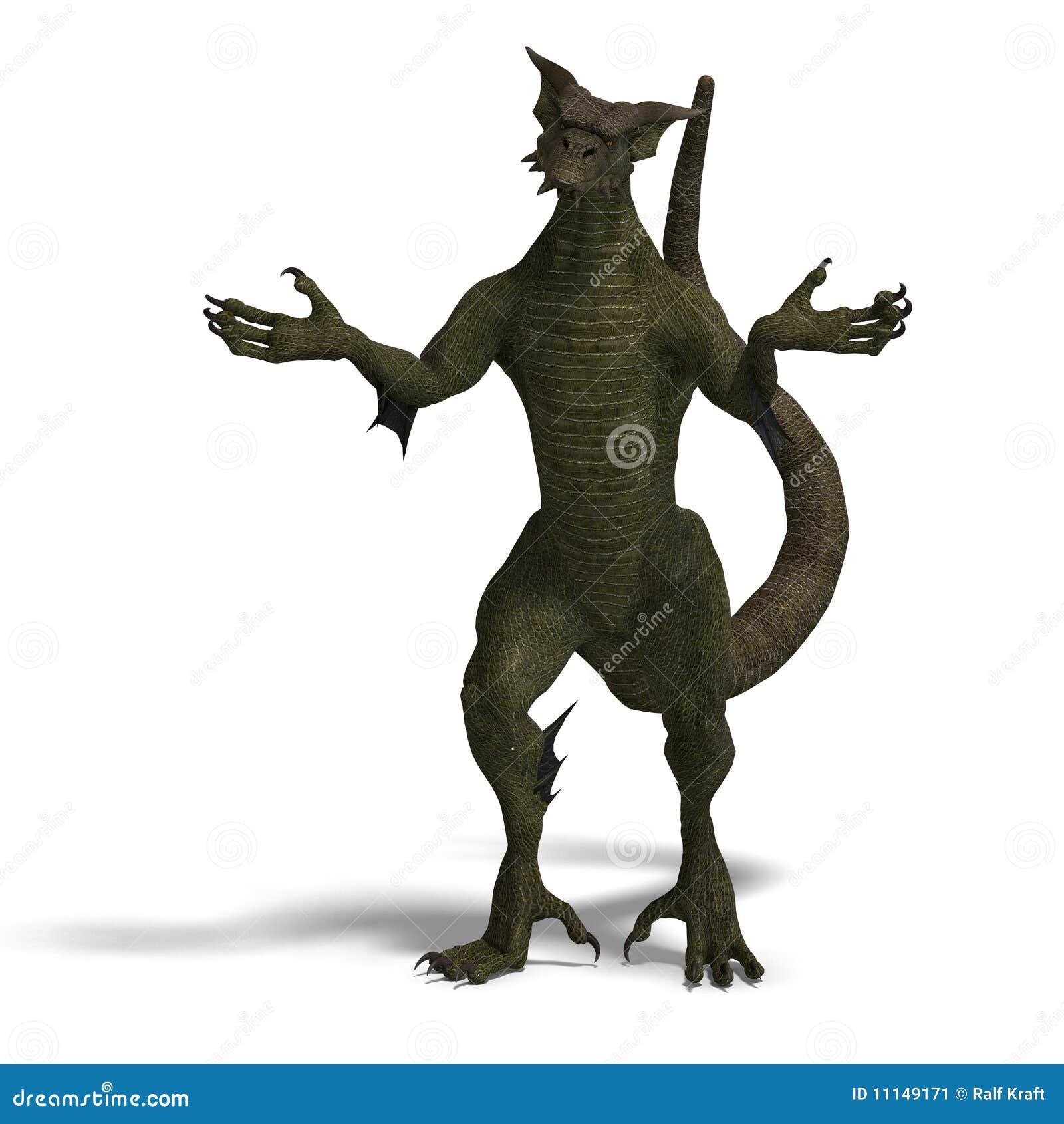 Member Of The Fantasy Dragon Folk Stock Image Image