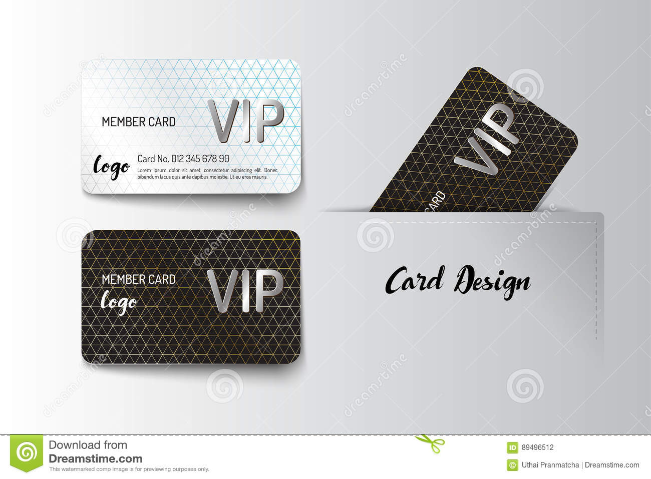 Member VIP And Business Card Template Design Stock Vector ...