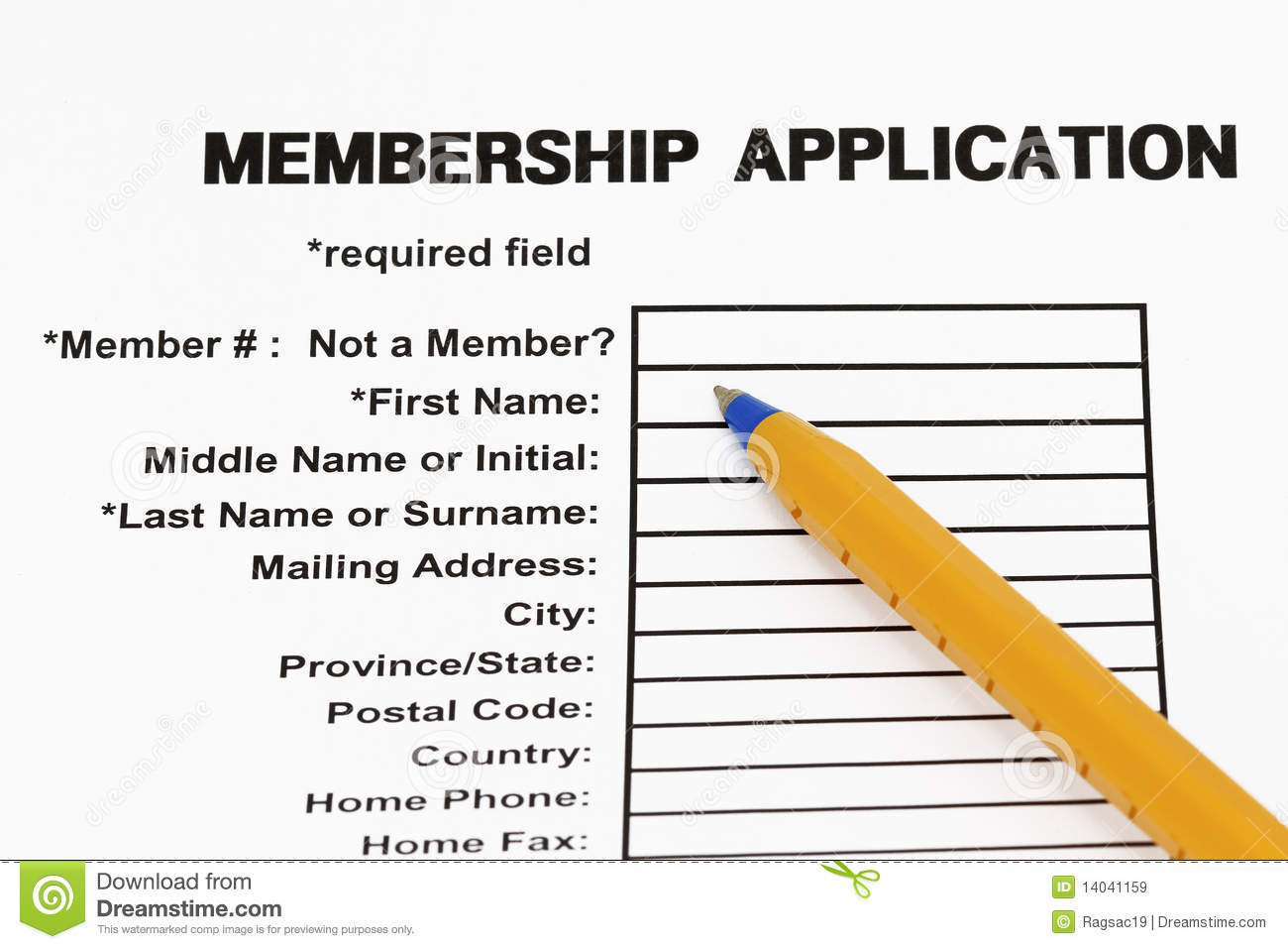 how to make a membership application form