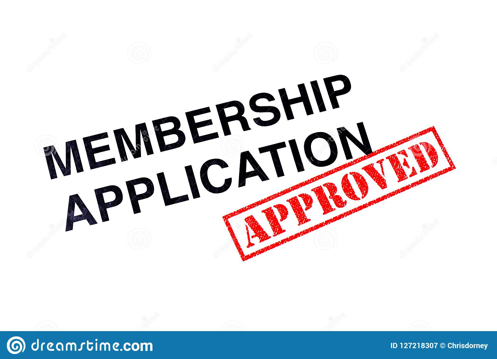 Membership Application Approved Stock Illustration