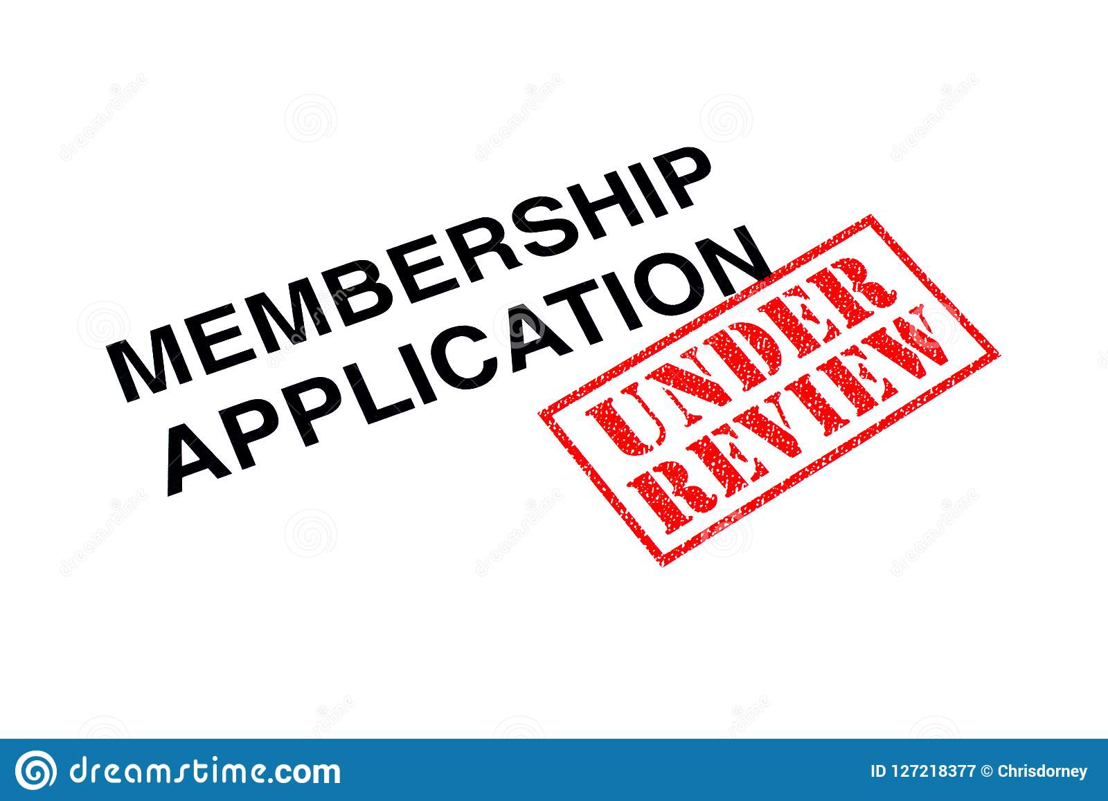 Membership Application Under Review Stock Image - Image of