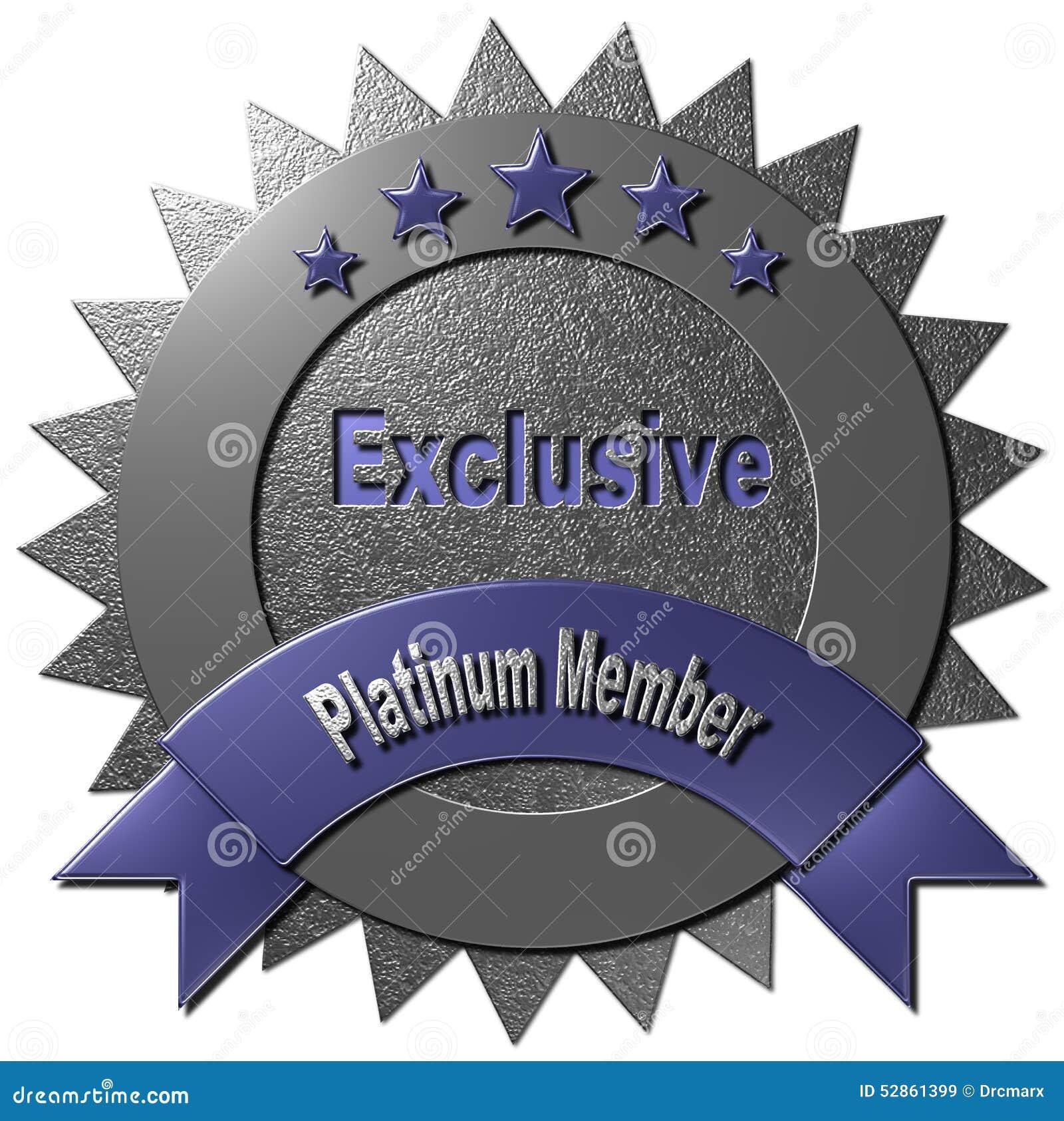 Ce joint de platine avec cinq étoiles déclarant le membre exclusif de  platine peut être utilisé sur le WWW ou n importe quel matériel  promotionnel pour ... be75707609