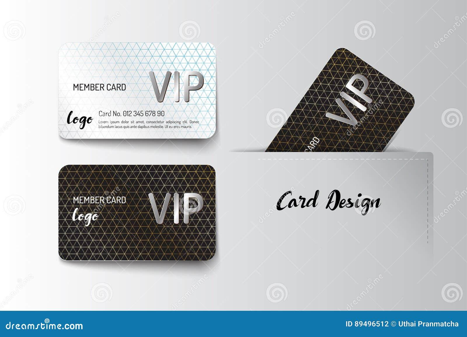 Membre VIP Et Conception De Calibre De Carte De Visite
