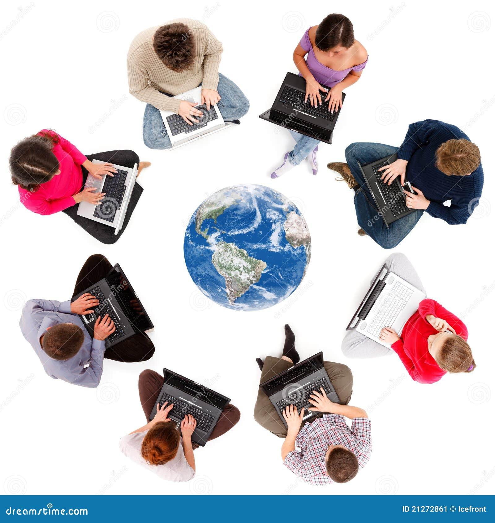 Membri sociali della rete veduti da sopra