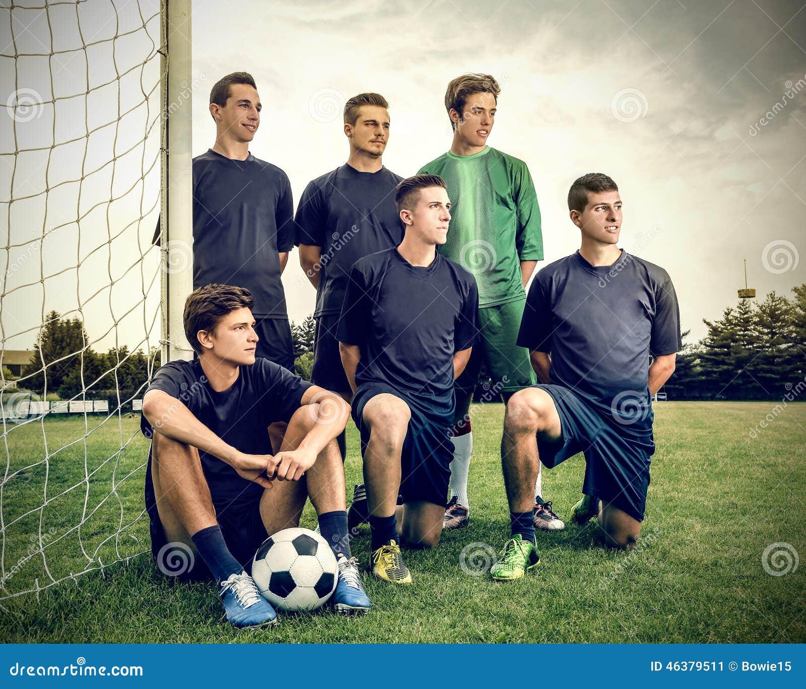 Membros de uma equipa de futebol