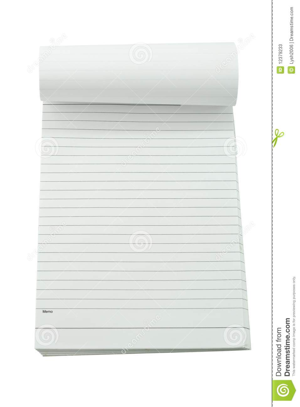 Memo Pad Stock Photos - Image: 12379233
