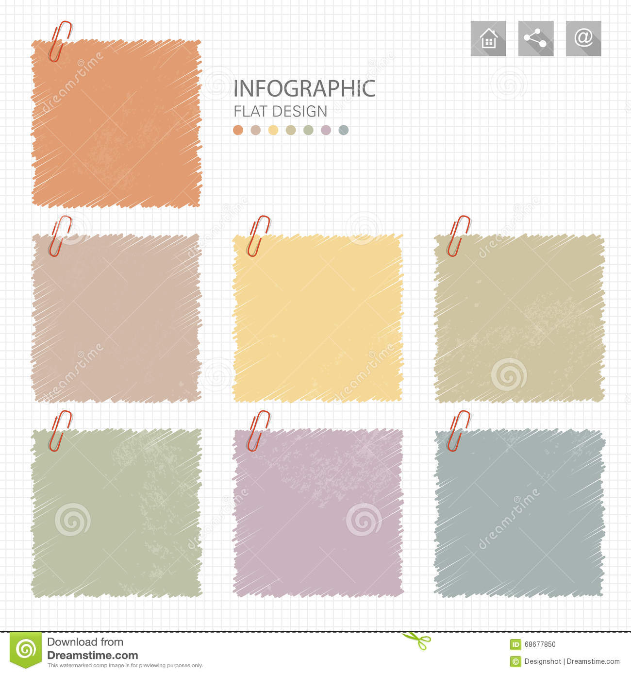 memo post it notes infographic stock vector image 68677850 memo post it notes infographic
