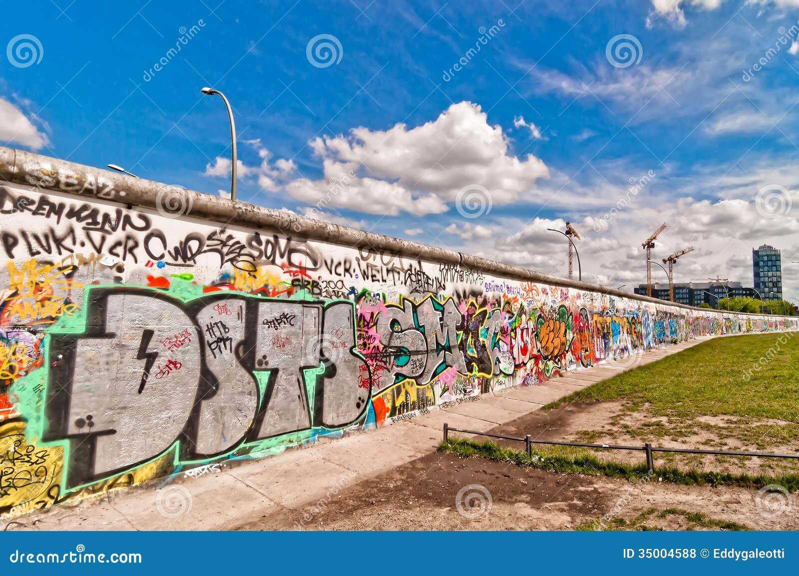 Memorable Segment Of Berlin Wall With Graffiti Editorial ...