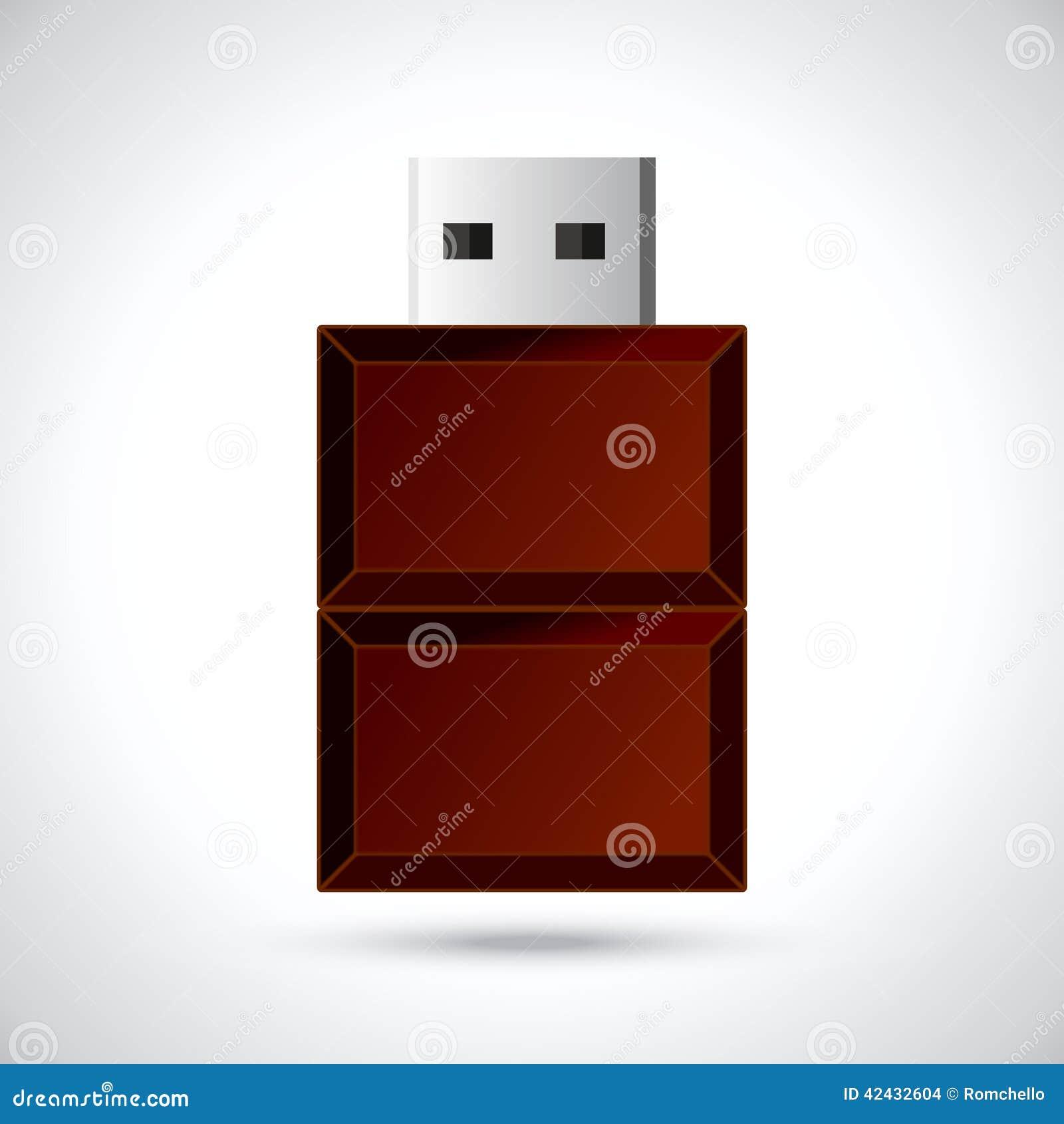 Memoria USB del chocolate