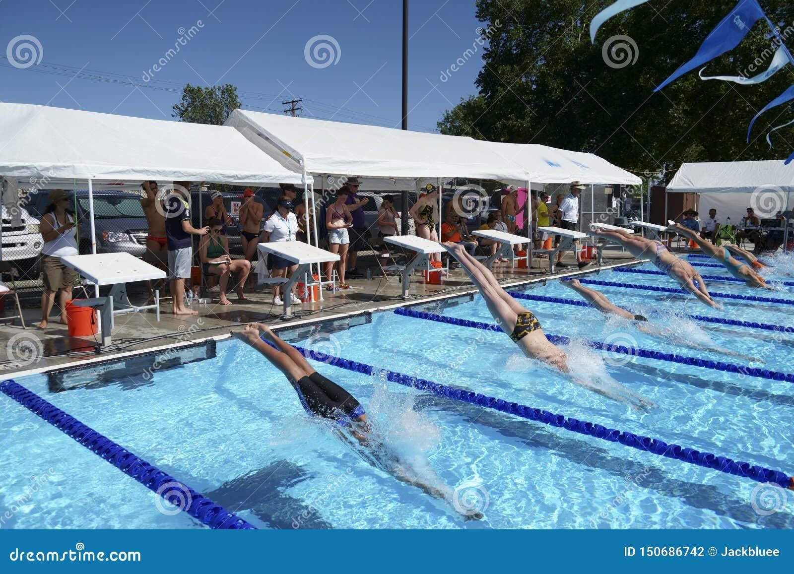 Swimming Meet At Pasco Memorial Aquatic Park Editorial Photography Image Of Meet Held 150686742