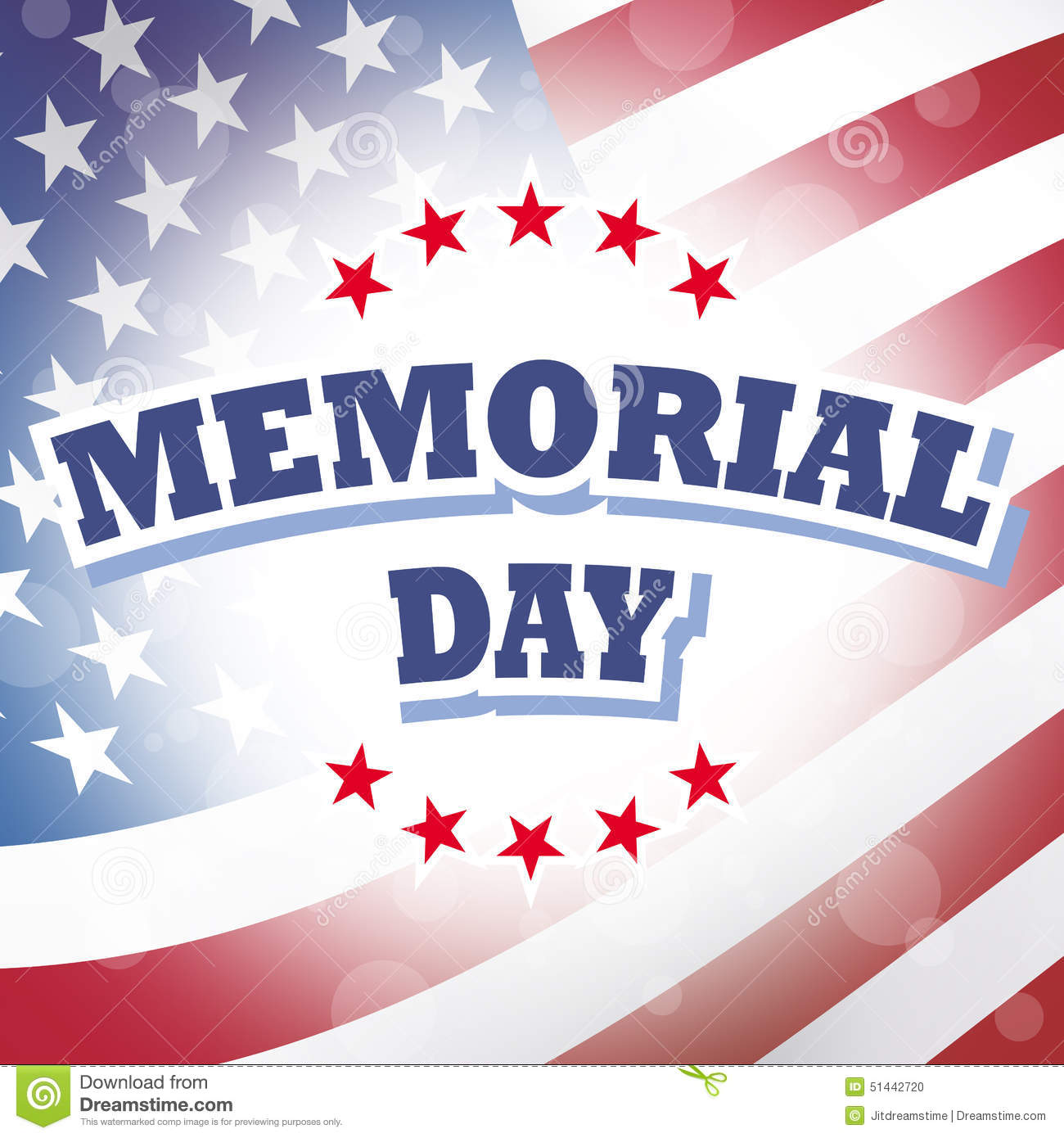 Memorial Day Thank You American Flag Stock Illustration ...