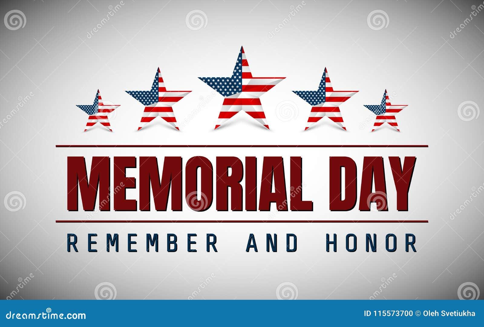 Memorial Day avec l étoile dans des couleurs de drapeau national
