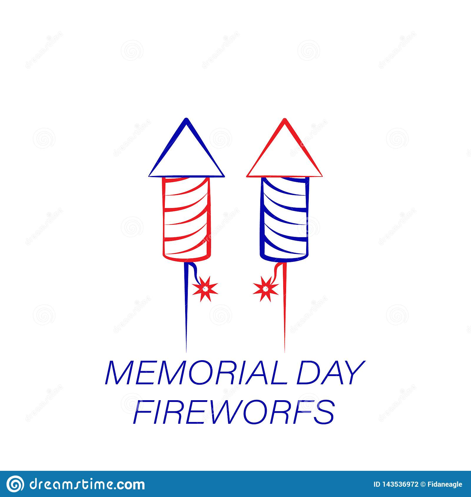Memorial day fireworks colored icon. Element of memorial day illustration icon. Signs and symbols can be used for web, logo,