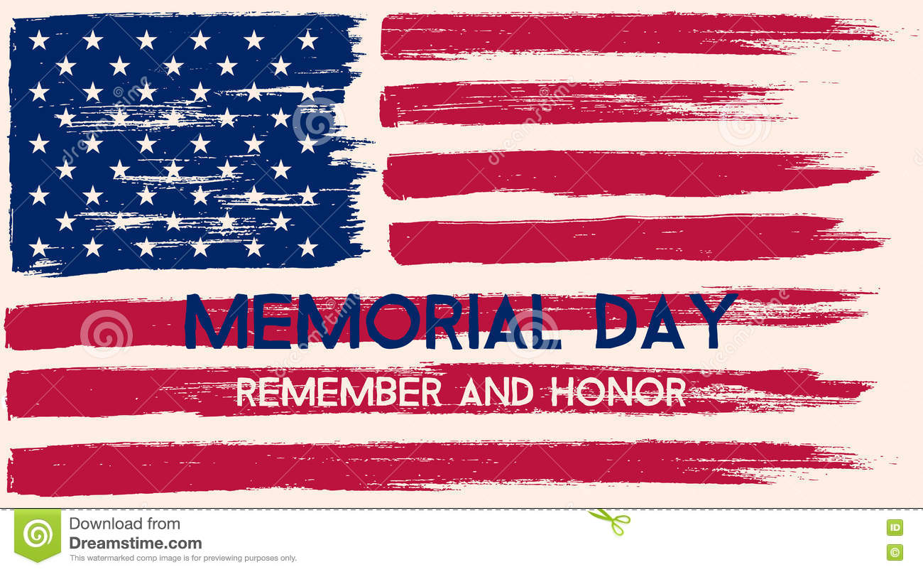 Download Memorial Day illustration. stock vector. Illustration of card - 71571060