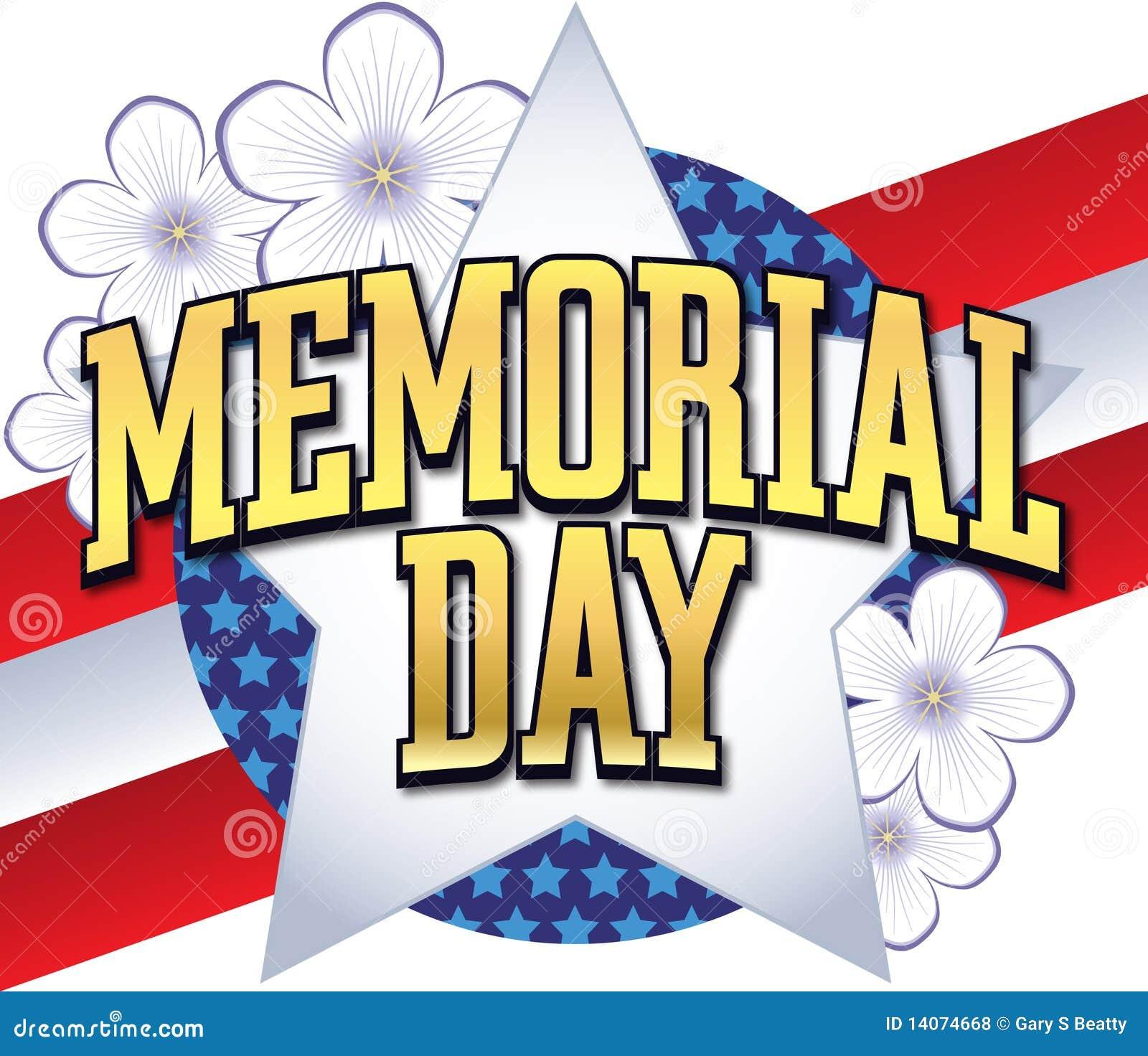 Memorial Day Logo Type Royalty Free Stock Photos - Image: 14074668