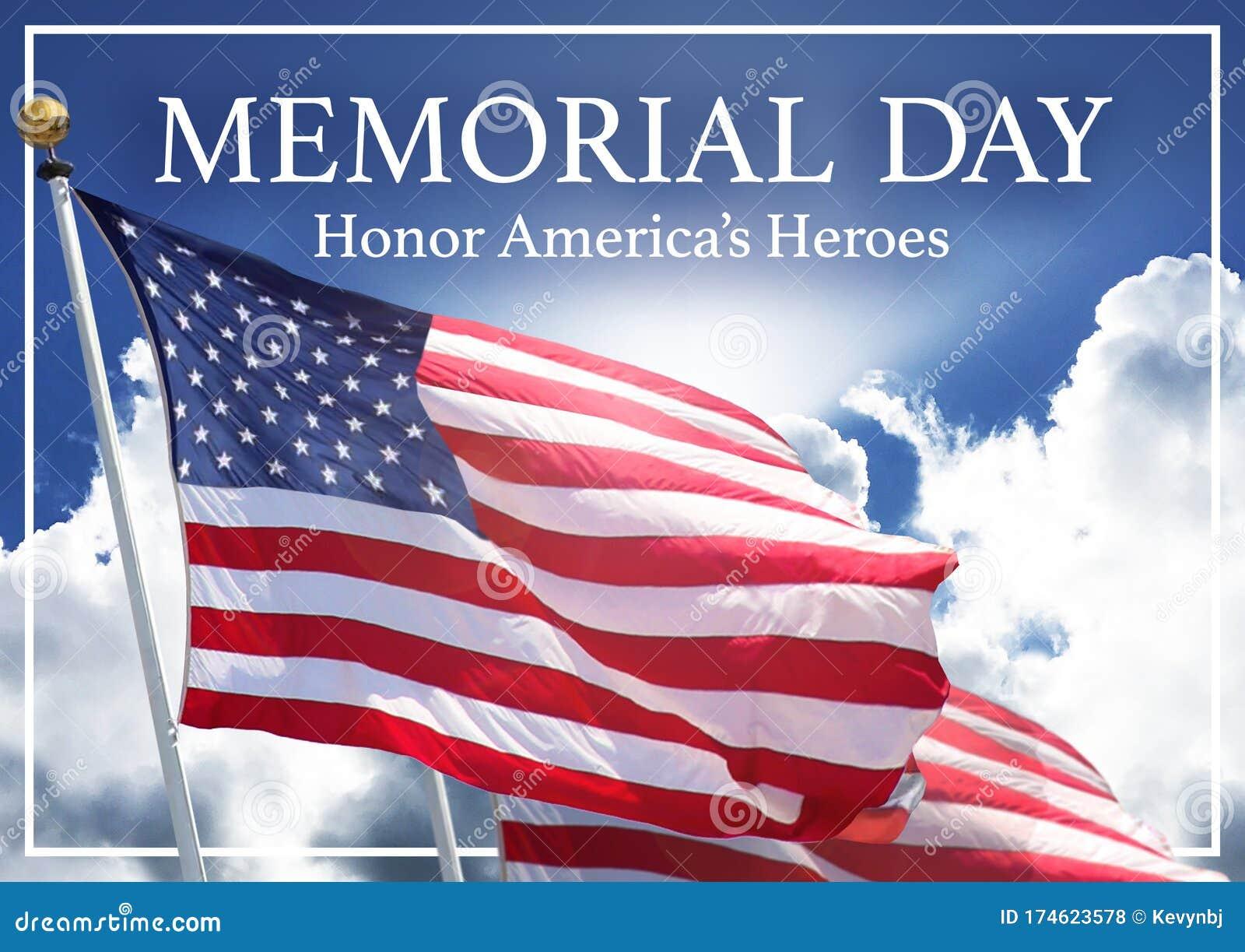 Memorial Day Meme Image Art America`s Heroes Stock Photo ...