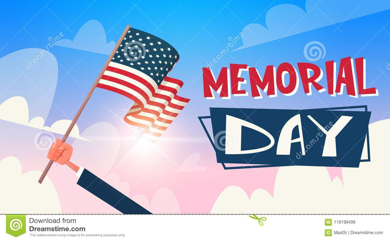 Memorial Day Usa Greeting Card Wallpaper Hand Hold National