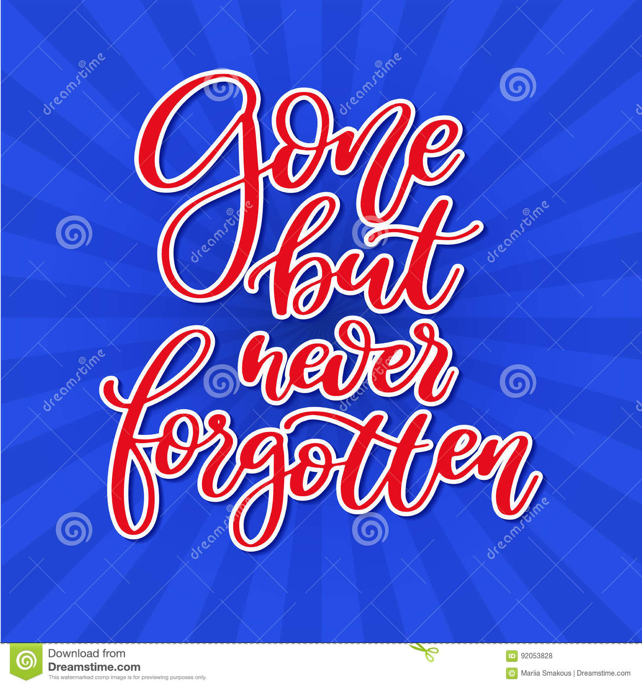 Memorial Day Vector Hand Lettering American National Holiday Quote