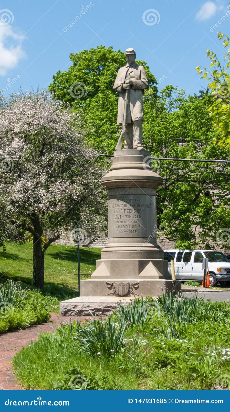 Memorial de guerra civil de South Norwalk
