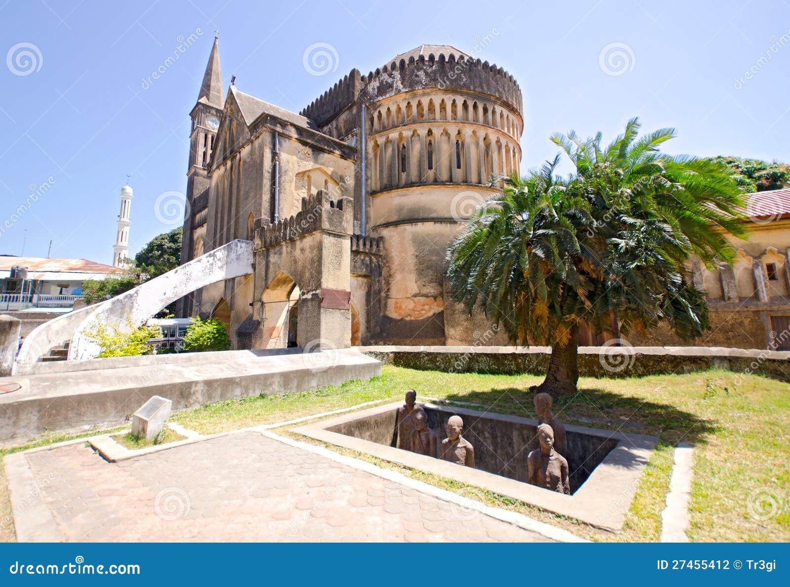 Memorial do mercado do escravo em Zanzibar