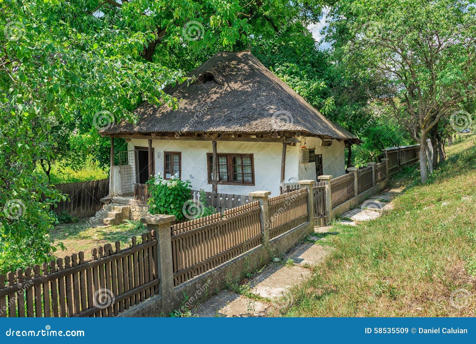 Memorial house of mos ion roata stock photo image 58535509 - Romanian peasant houses ...