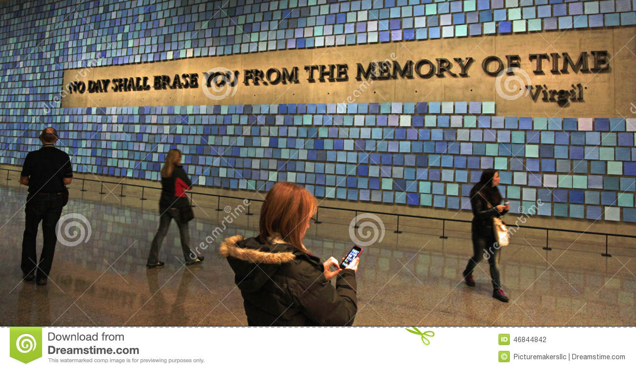 Foyer Museum Quotes : Memorial ground zero royalty free stock photo