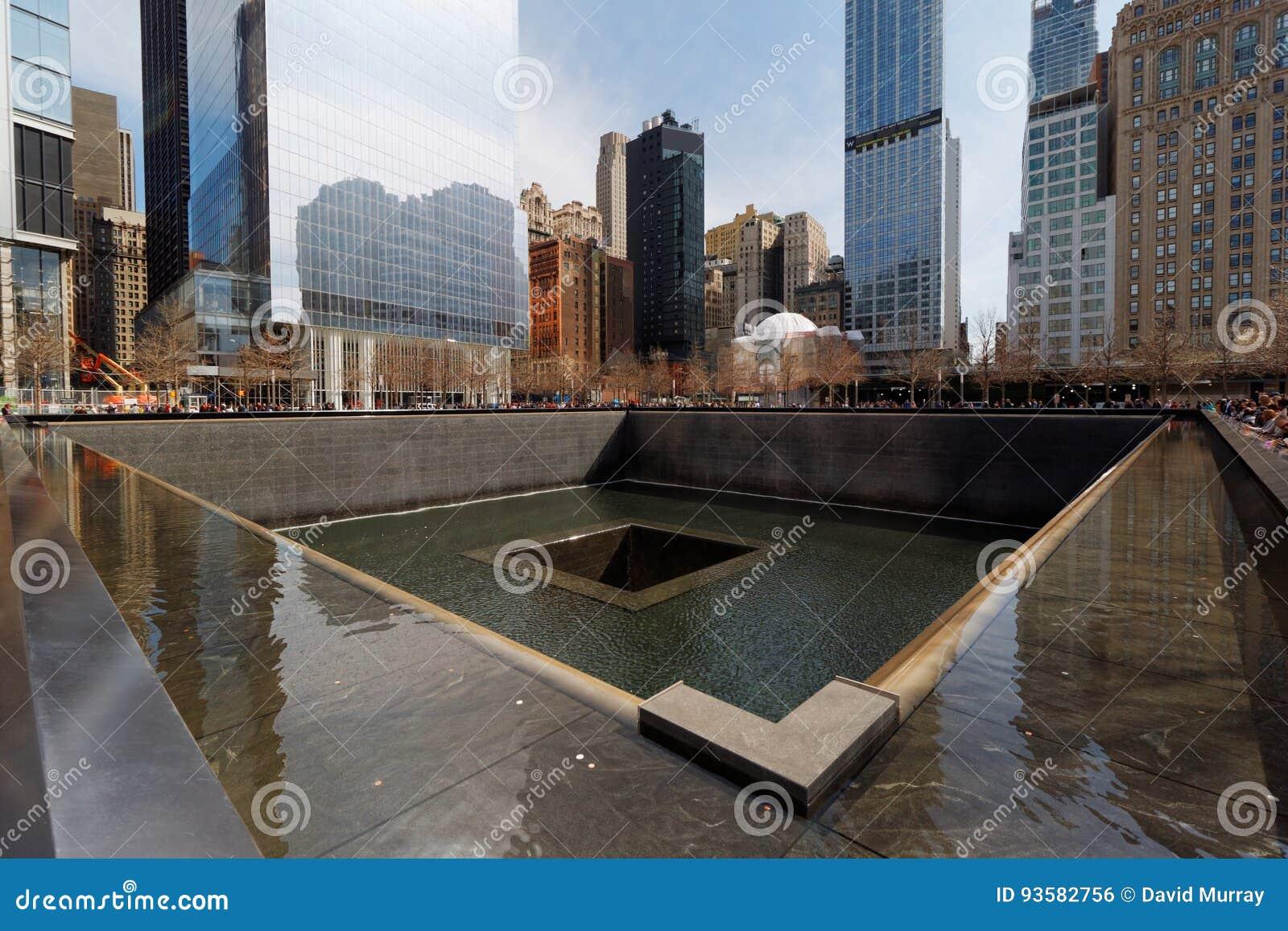 Memorial nacional do 11 de setembro/memorial centro do comércio mundial em Manhattan, New York City, EUA