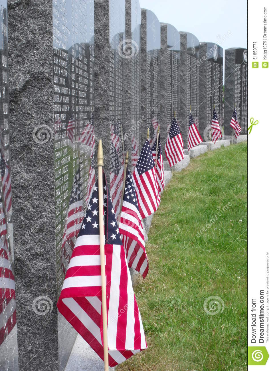 Reflections On Memorial Day >> Memorial Reflections Editorial Photography Image Of Flagged