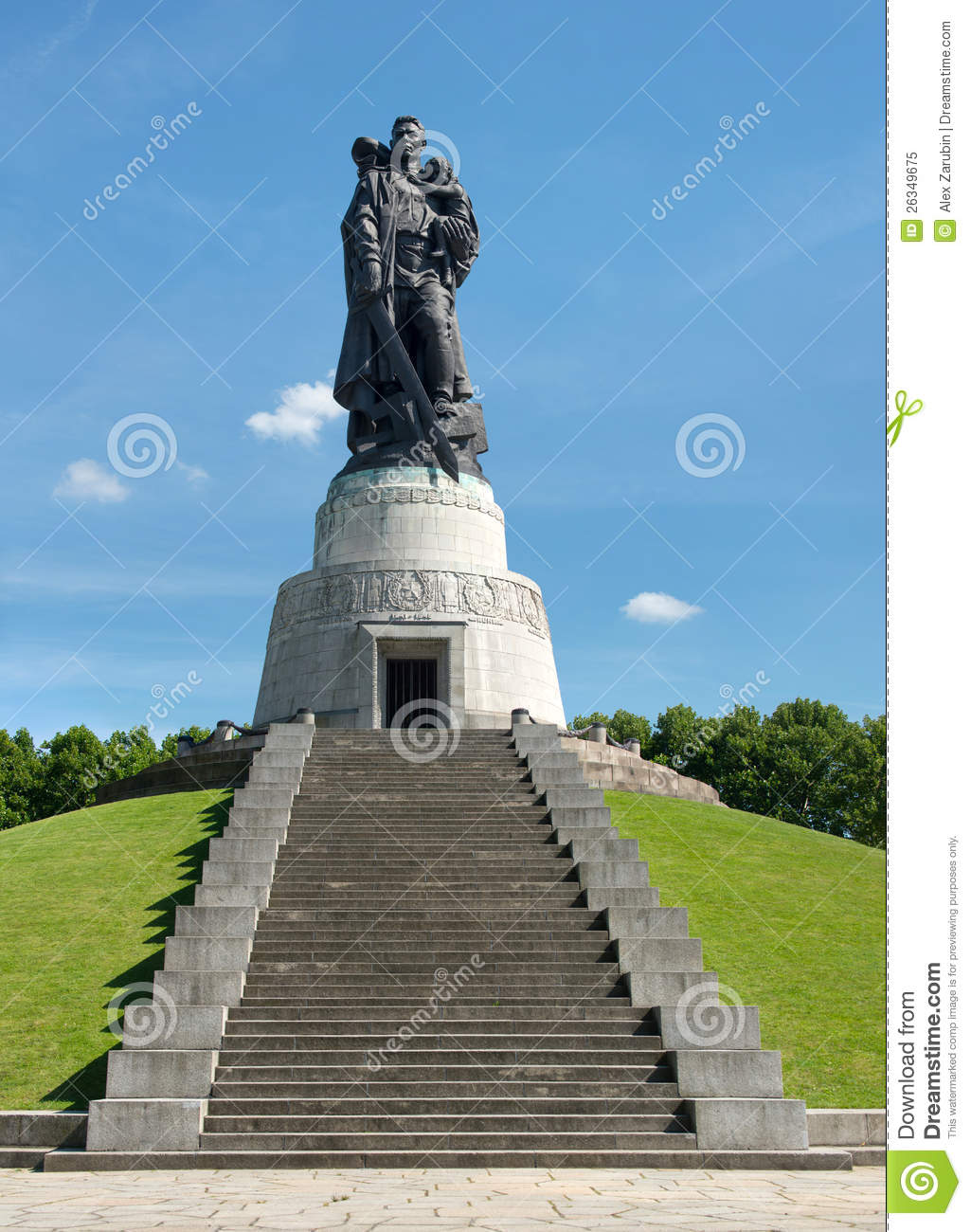 The second world war and russian soldiers treptower park berlin