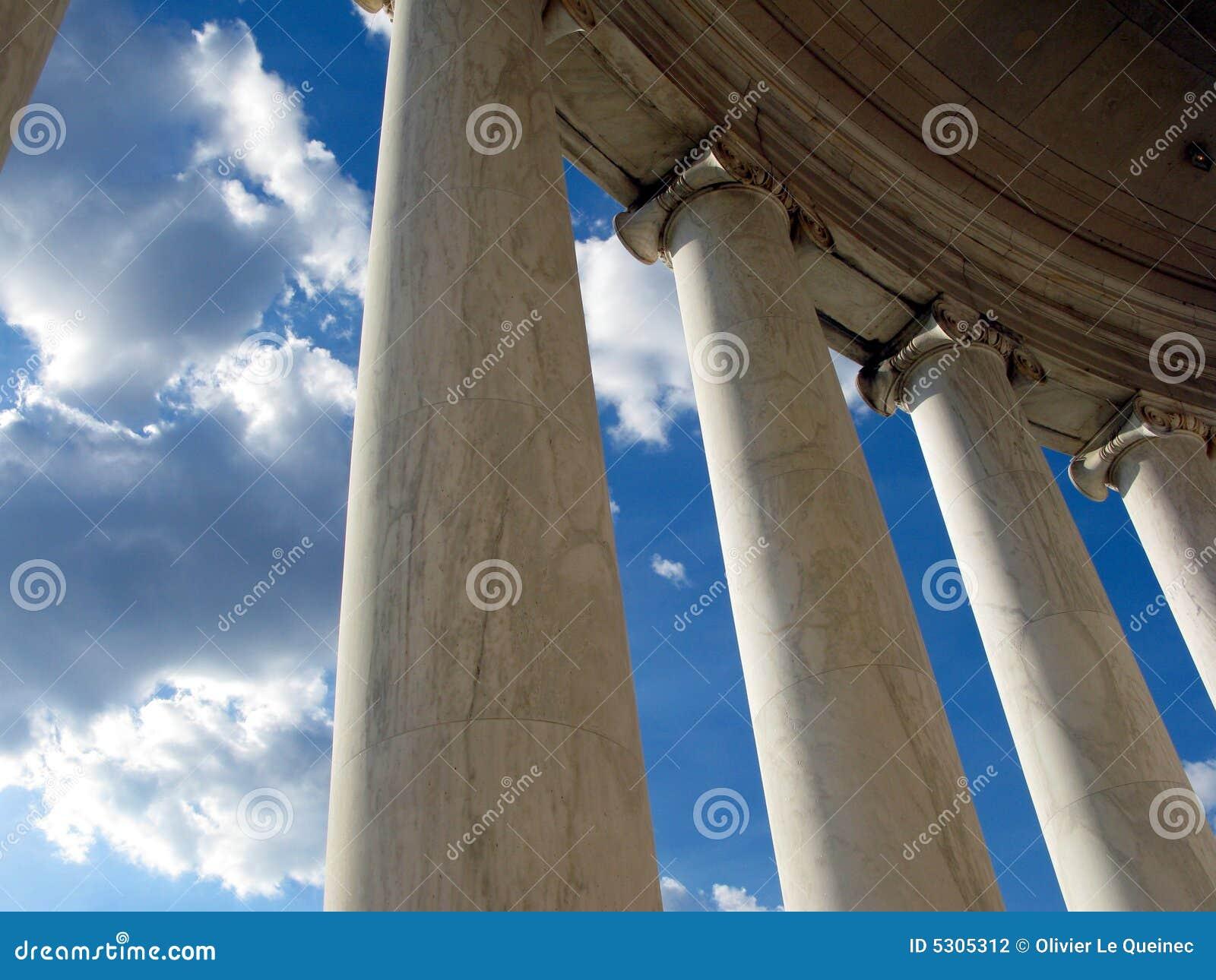 Download Memoriale Del Jefferson In Washington DC Fotografia Stock - Immagine di cielo, america: 5305312
