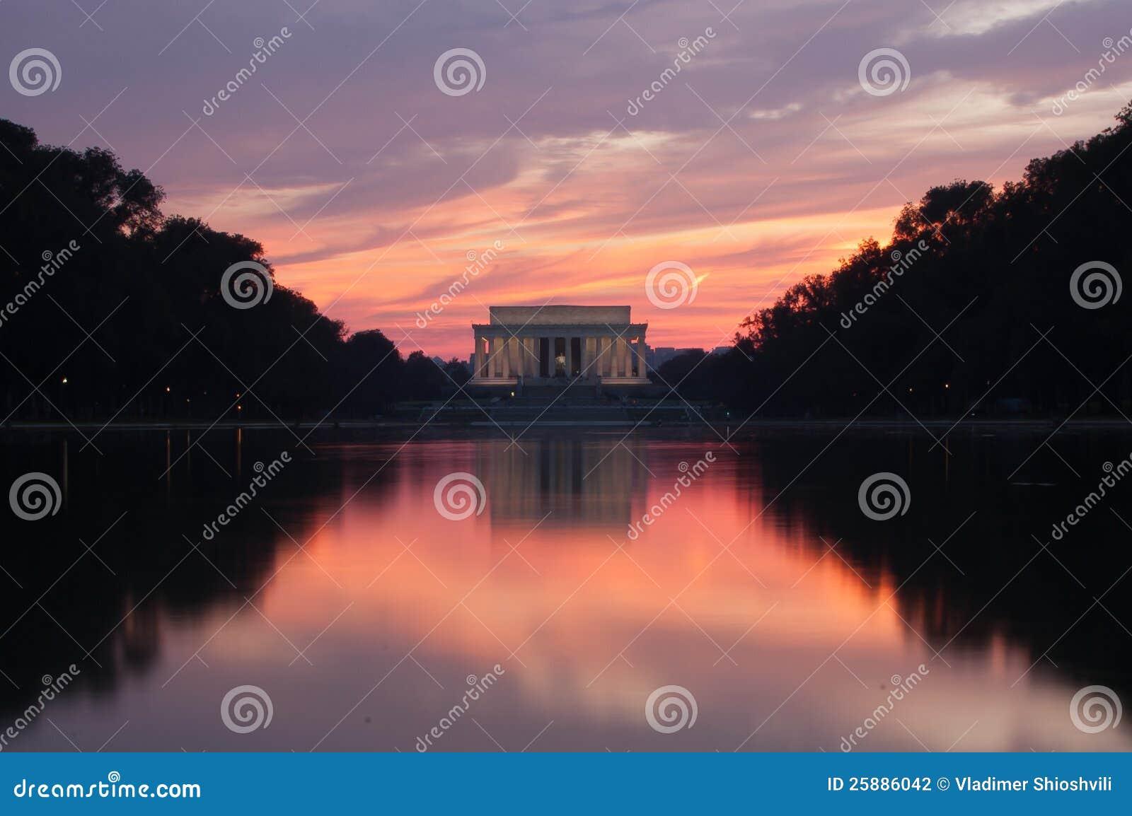 Memoriale di Lincoln al tramonto