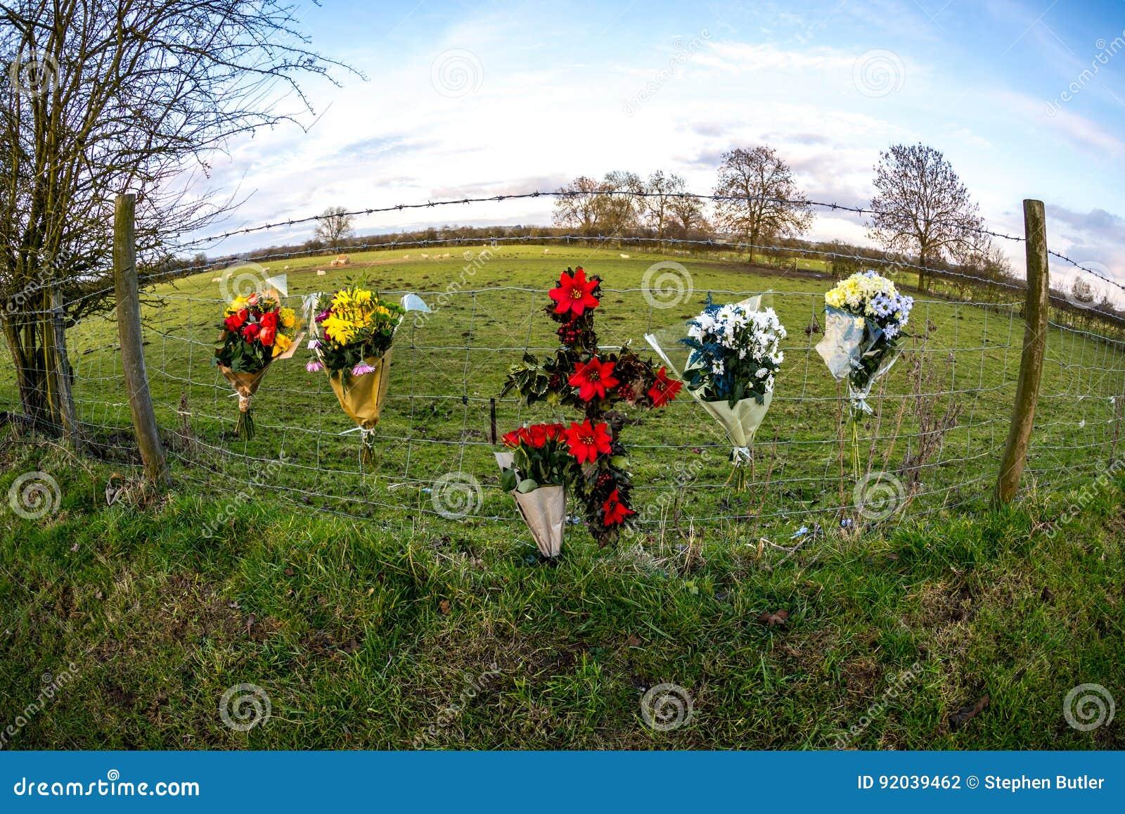 In memoriam flowers RIP