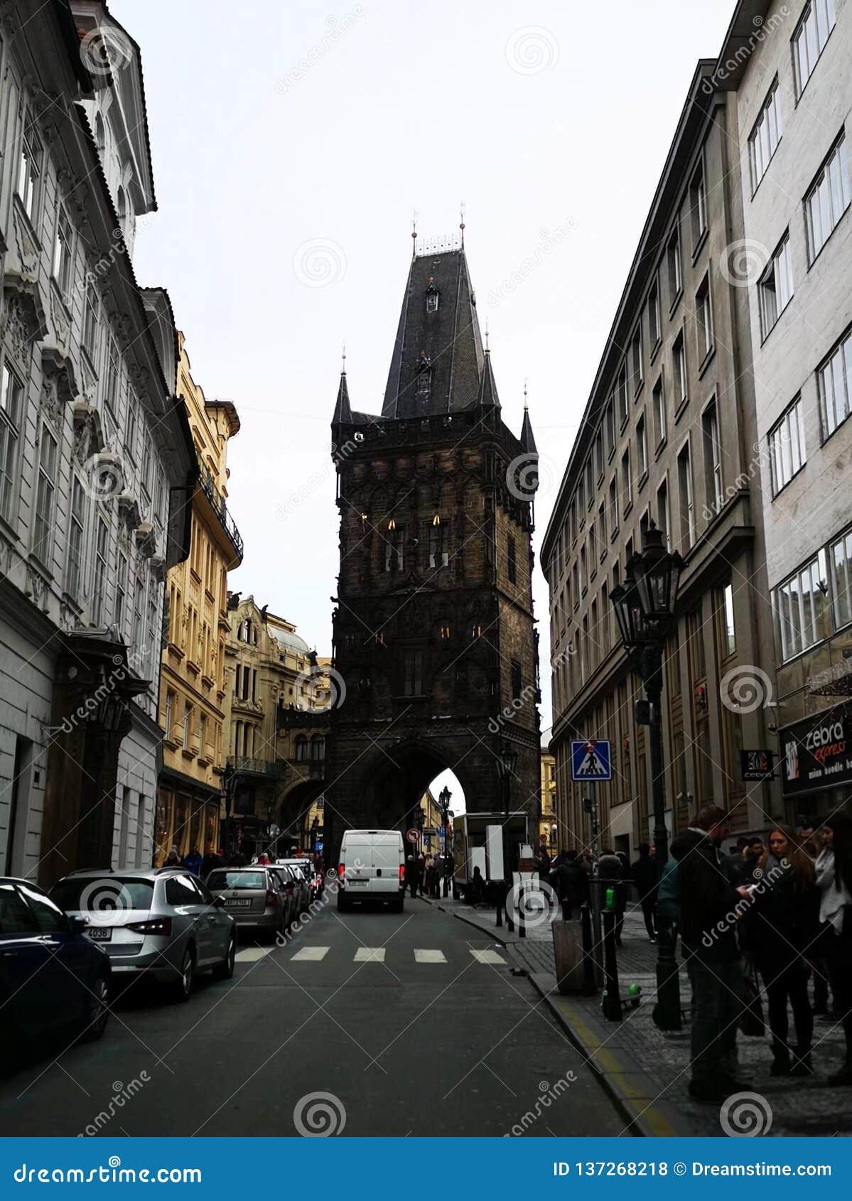 Memorie del viaggio - torre della polvere, Praga
