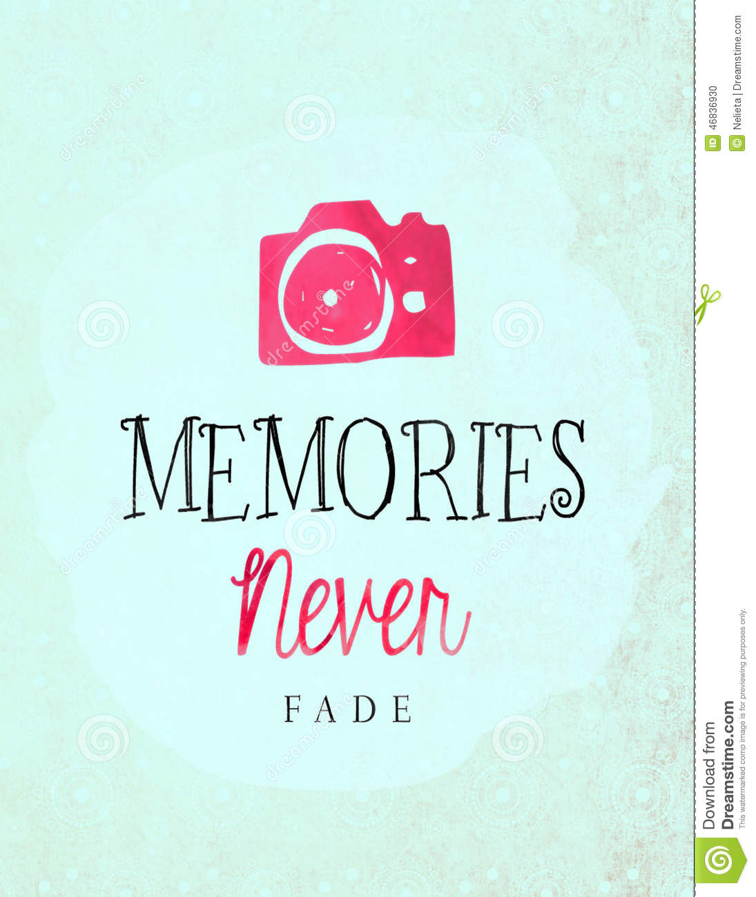 Memories Never Fade Stock Illustration Illustration Of Aged 46836930