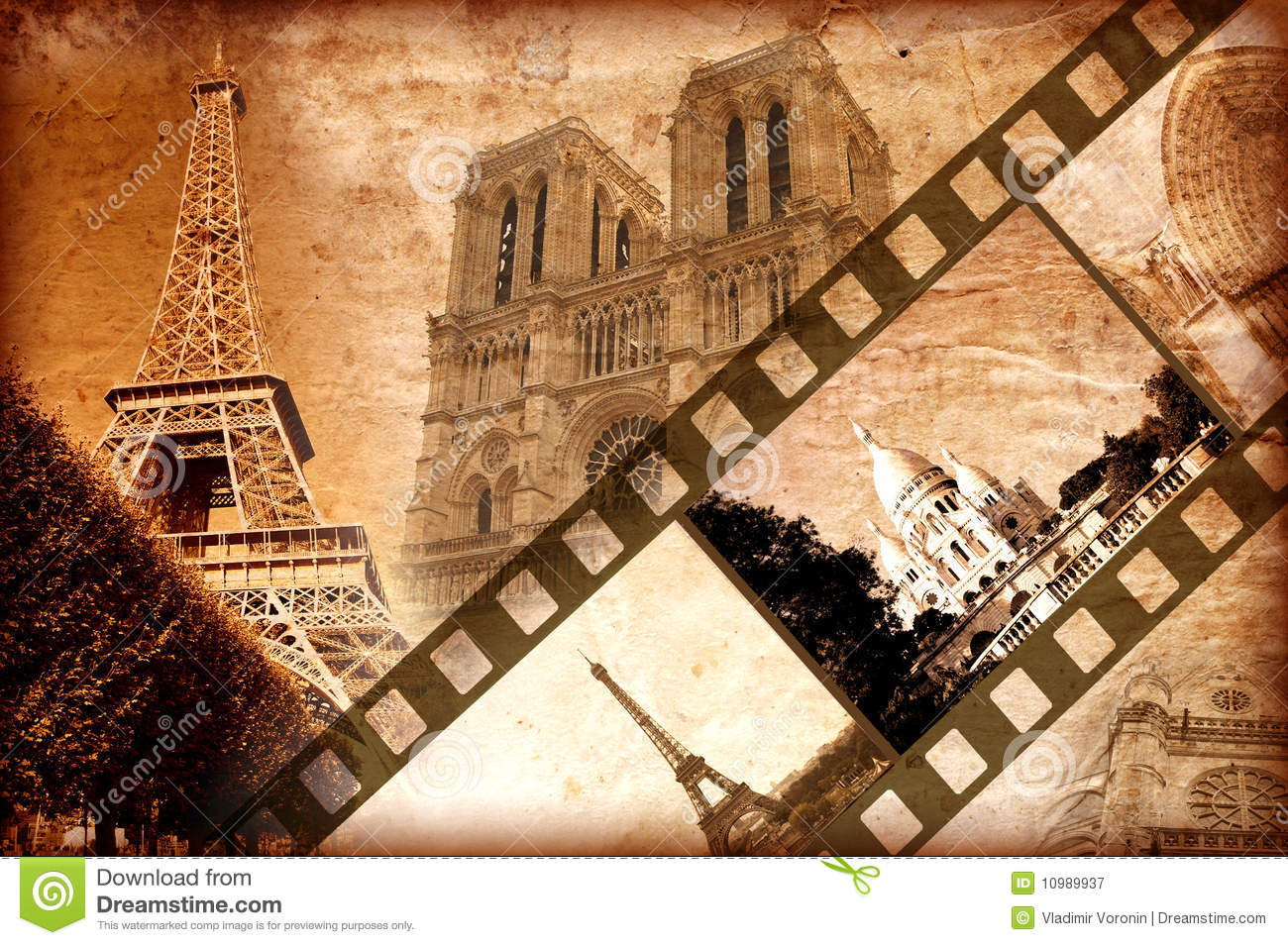 Memories About Paris - Vintage Style Royalty Free Stock Photography ...