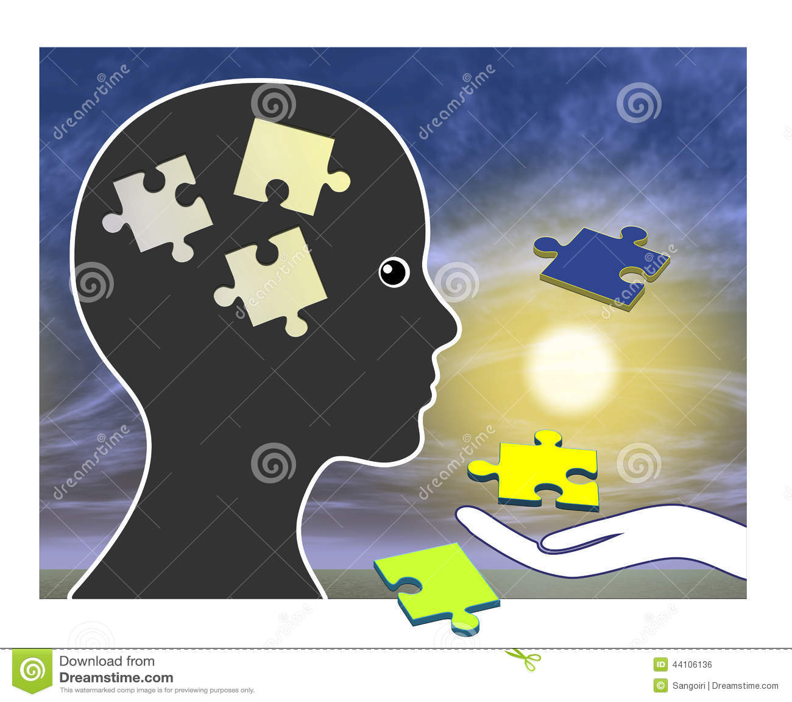 Memory Training After Amnesia Stock Illustration