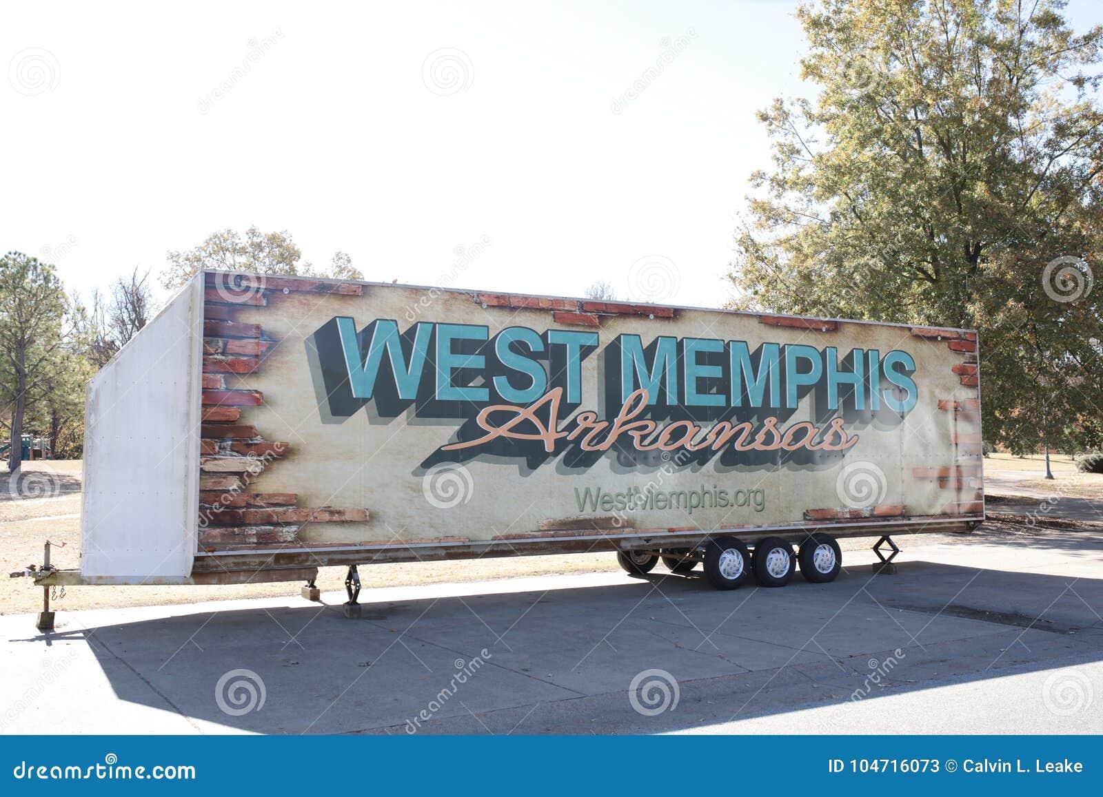 Memphis Arkansas occidental sur une remorque