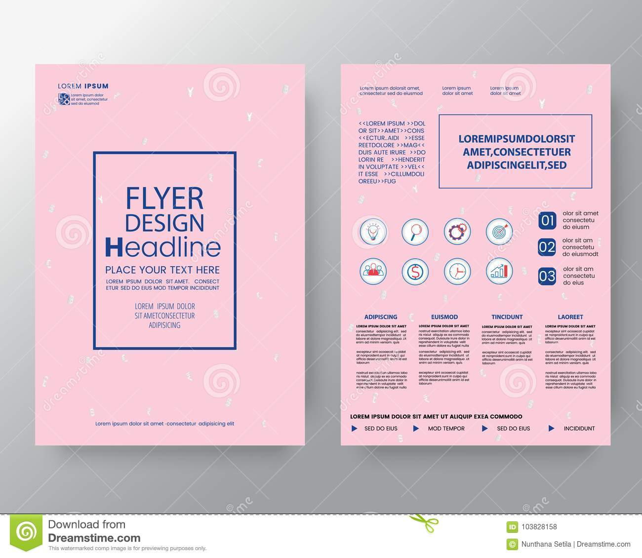 Memphis art background for Corporate Identity, Brochure annual report cover Flyer Poster design Layout vector template in A4 size