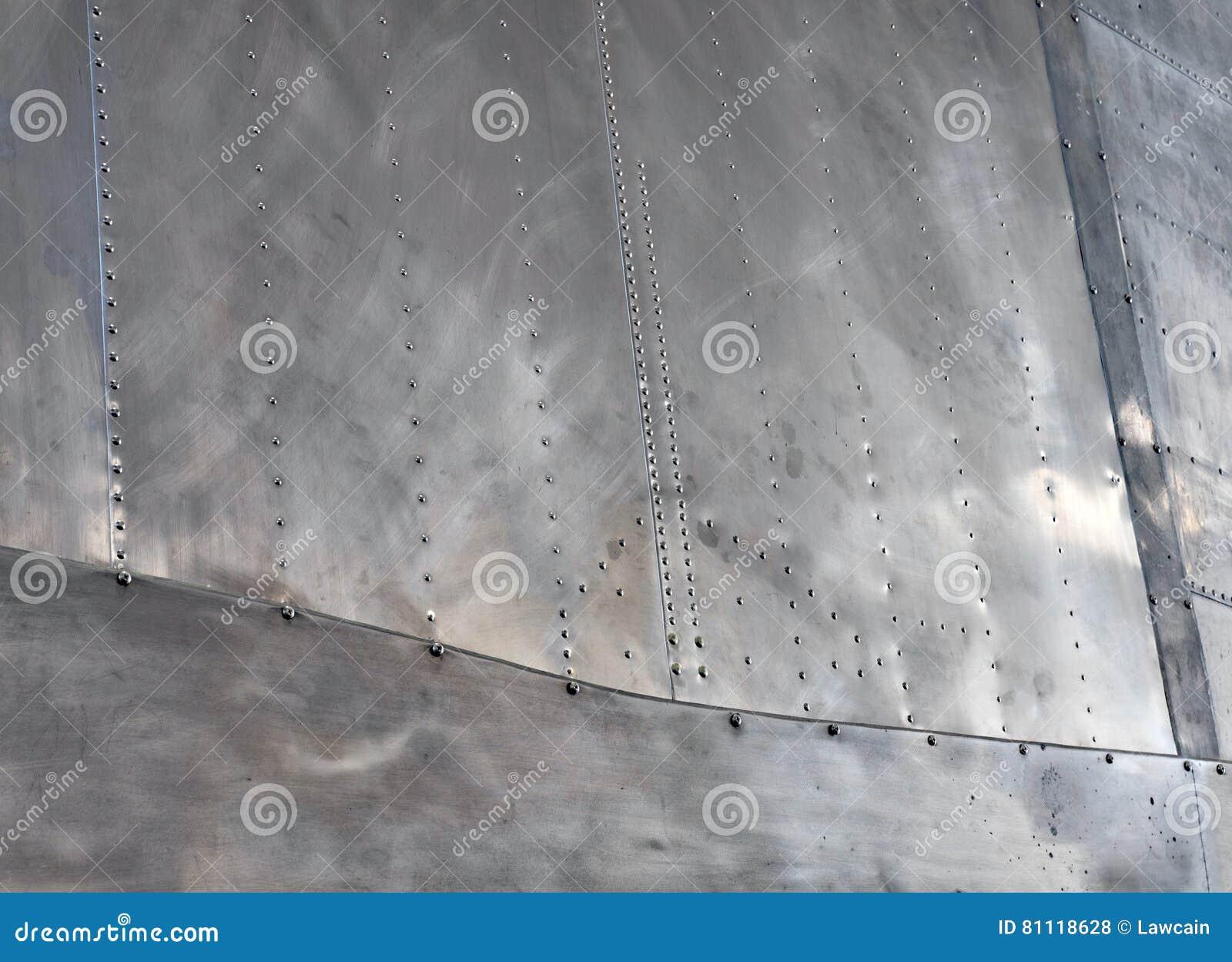 Memphis Belle Riveted Aluminum Fuselage-Close-up