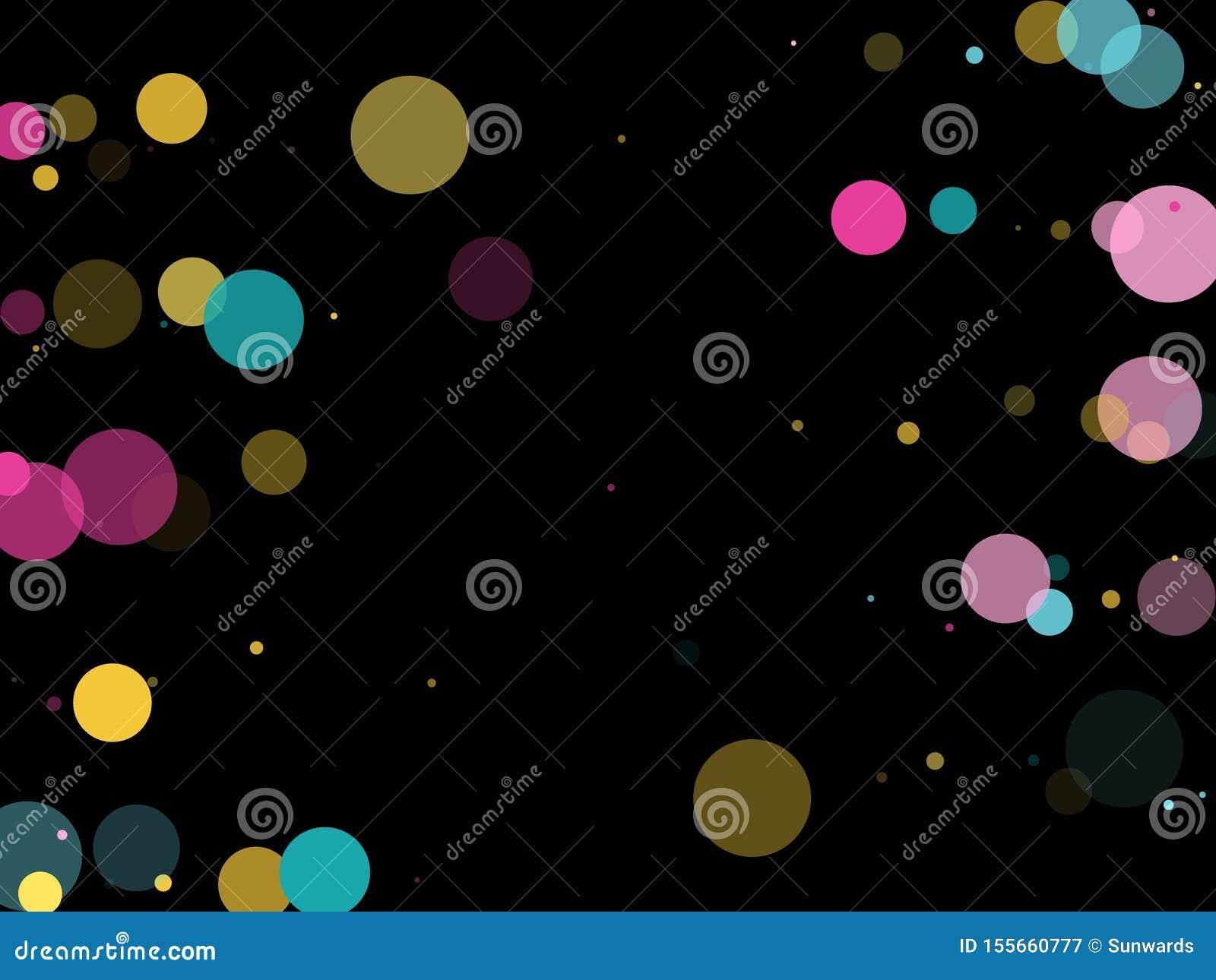Memphis round confetti ?wi?teczny t?o w cyan b??kicie, menchiach i kolorze ?