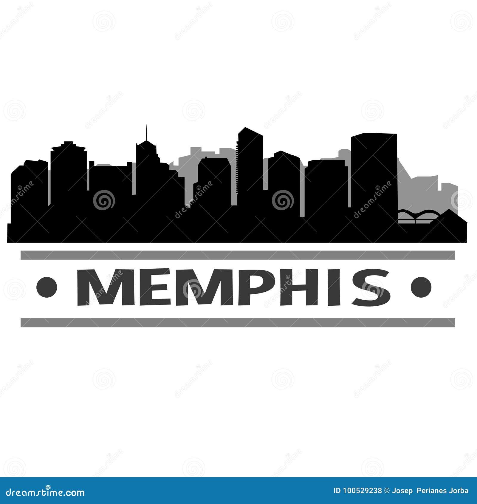 Memphis Skyline City Icon Vector Art Design