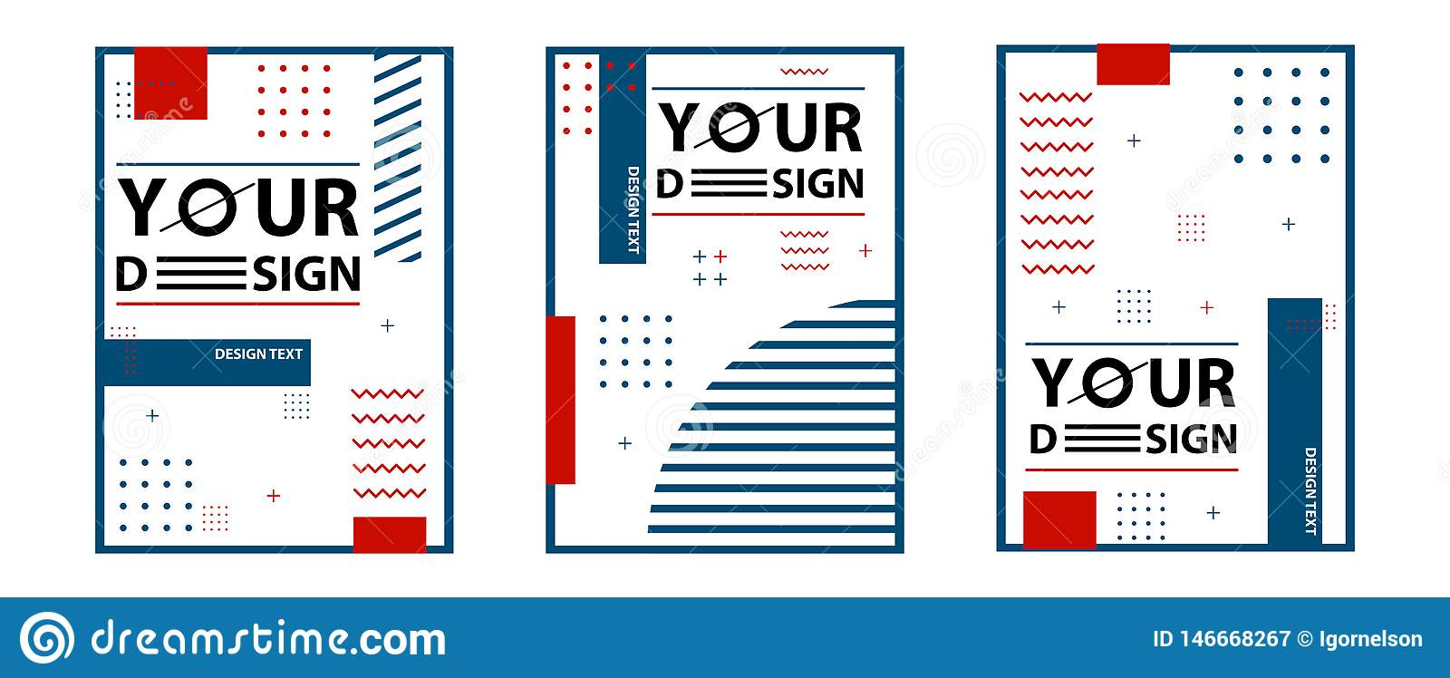 Memphis style cards. Set of templates in trendy memphis fashion 80-90s. Perfect for ad, greeting cards, presentation, cover design