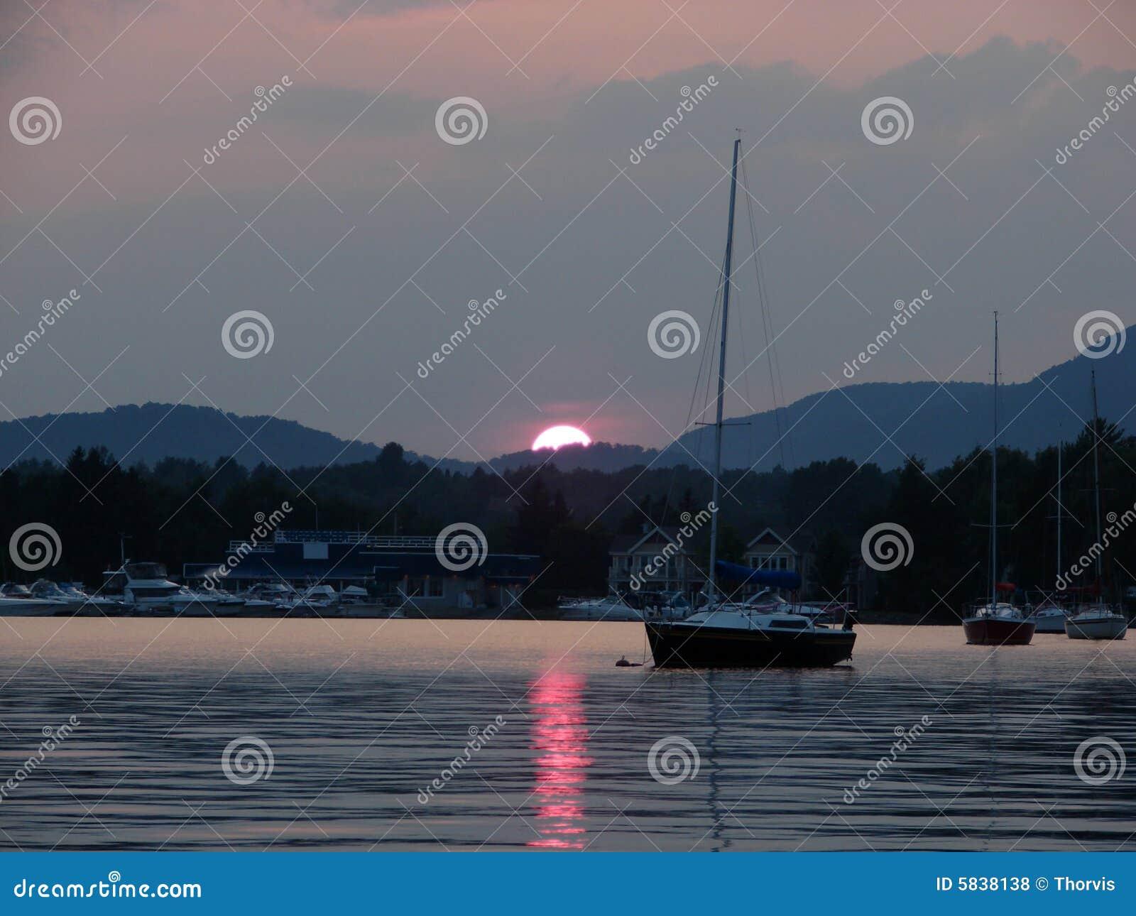 Memphremagog Lake at sunset