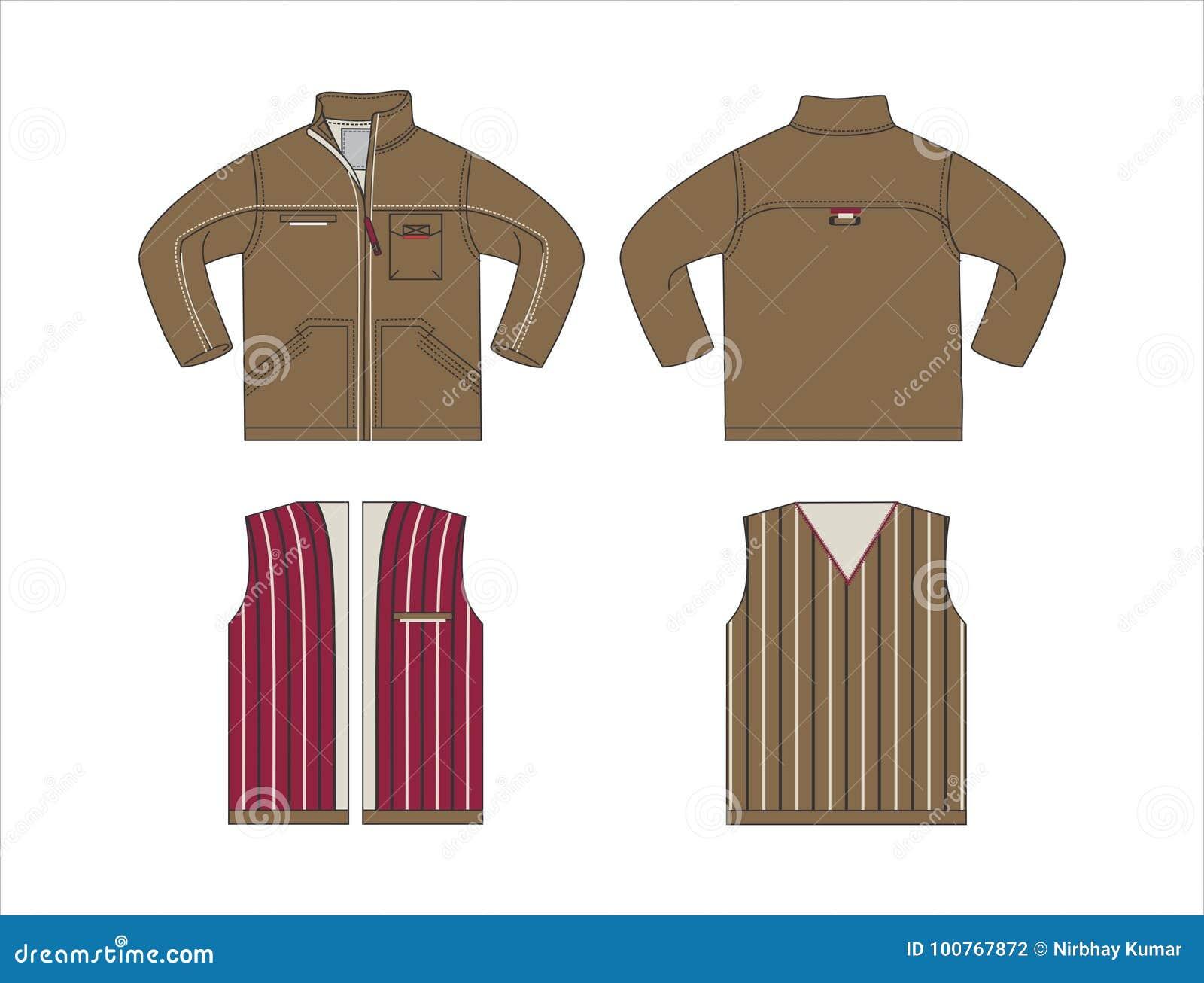 Men\'s Clothes Templates VECTOR Stock Vector - Illustration of cotton ...