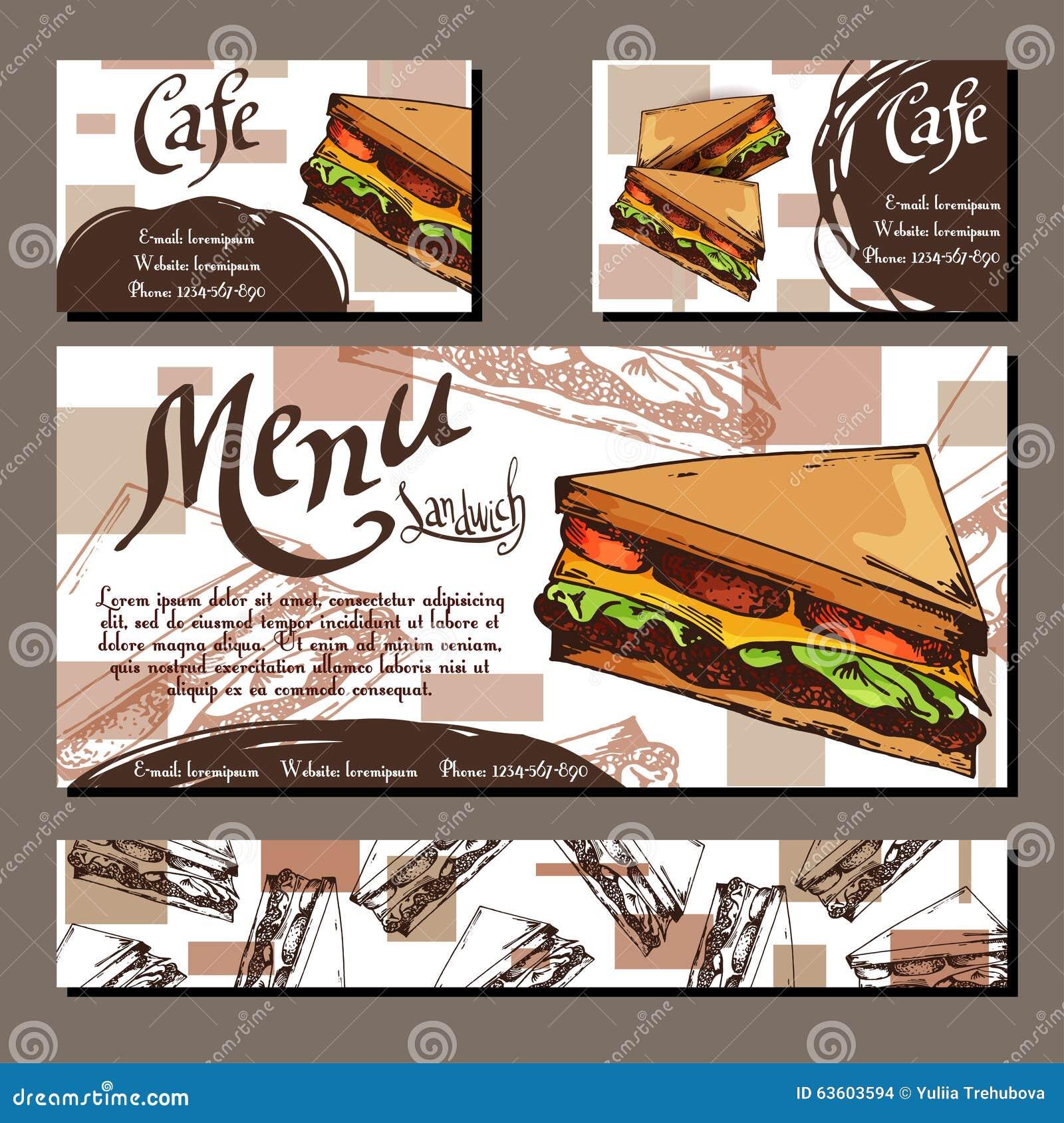 Plantilla Determinada Del Diseño Gráfico Del Restaurante Del Menú ...