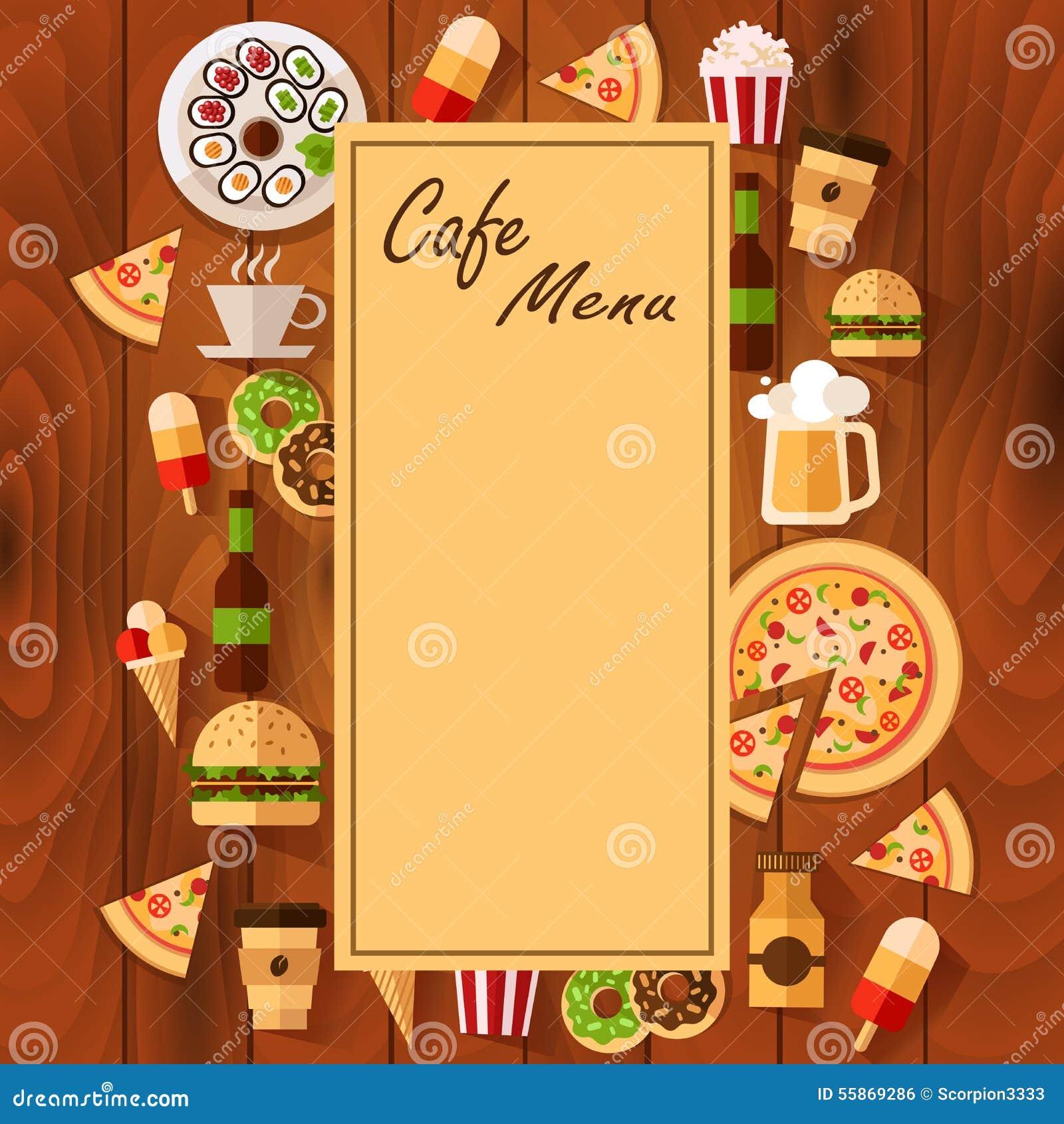 Men para el fondo del caf stock de ilustraci n imagen for Formatos y controles para restaurantes gratis