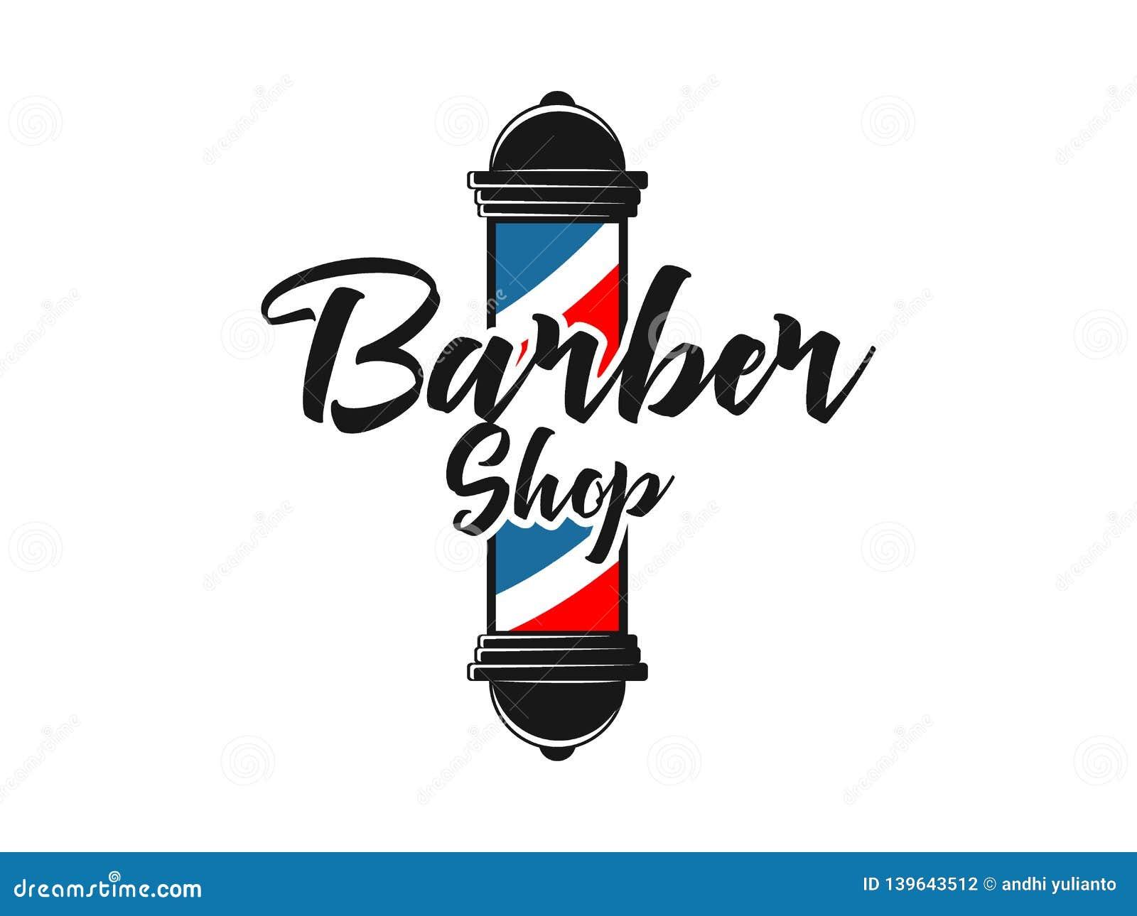 Men Barbershop Hairstylist Banner Logo Badge Vector Design Stock Vector Illustration Of White Symbol 139643512