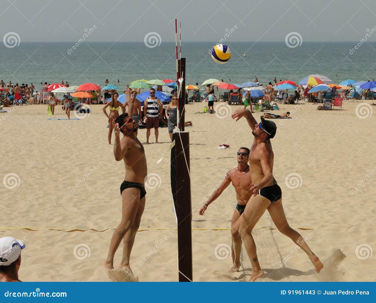 Men beach volleyball