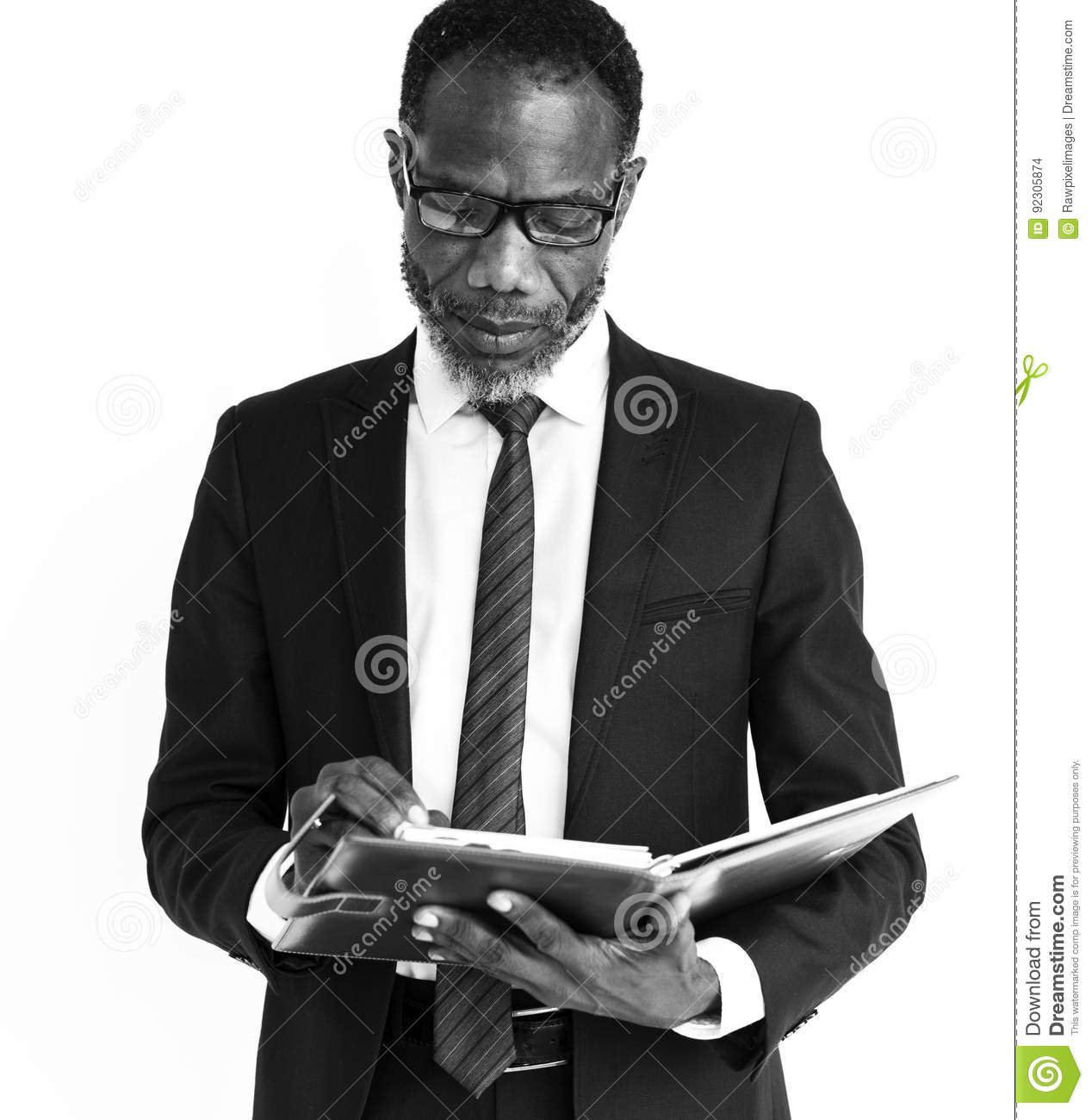 Men Business Thinking African Concept