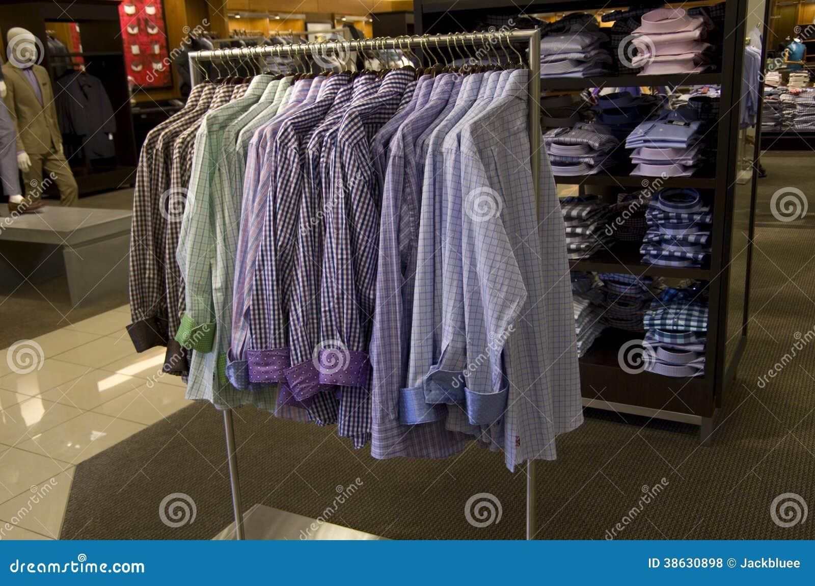 Royalty Free Stock Photos: Men clothing fashion department store